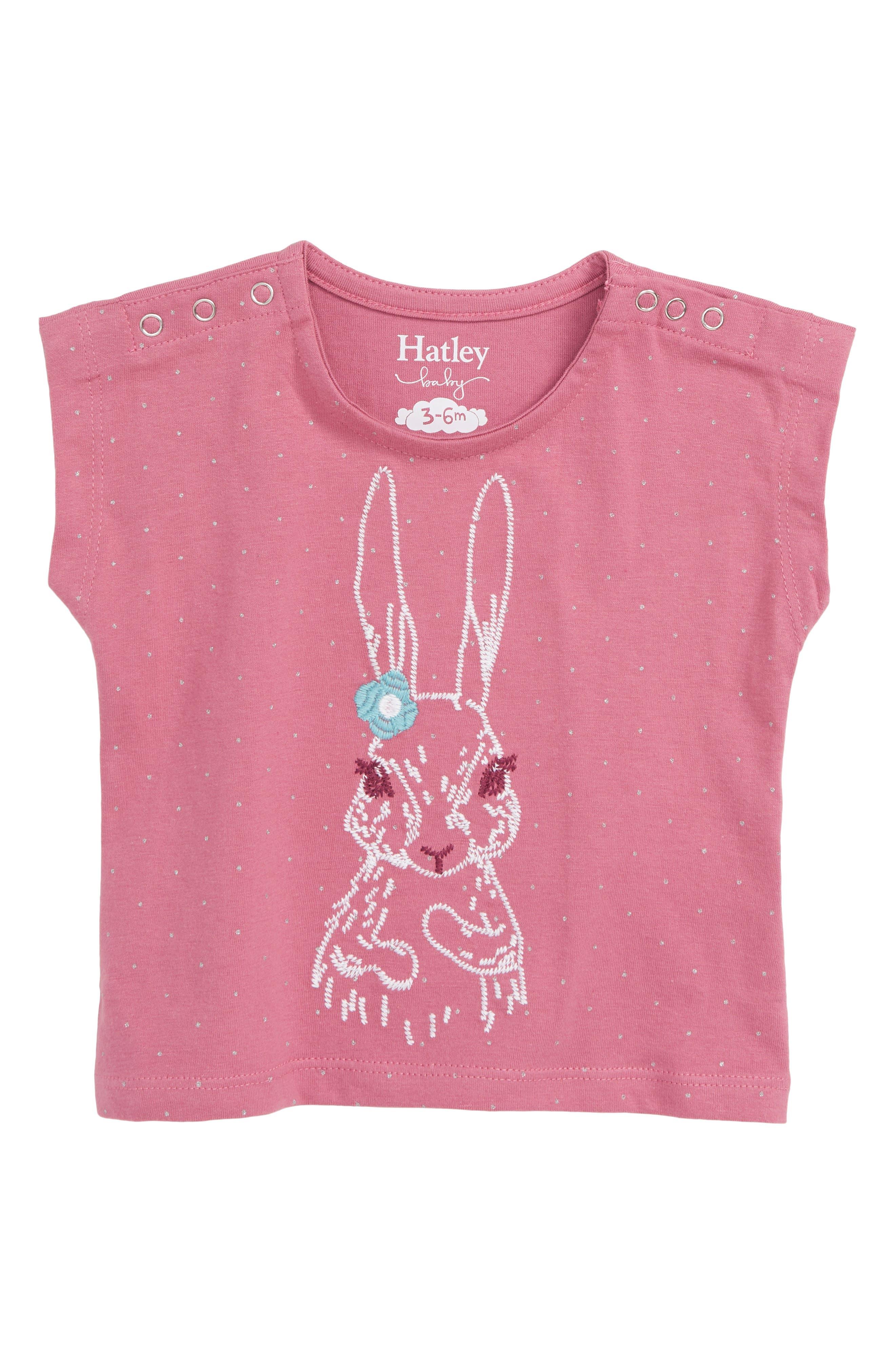 HATLEY Pretty Bunny Organic Cotton T-Shirt, Main, color, 650
