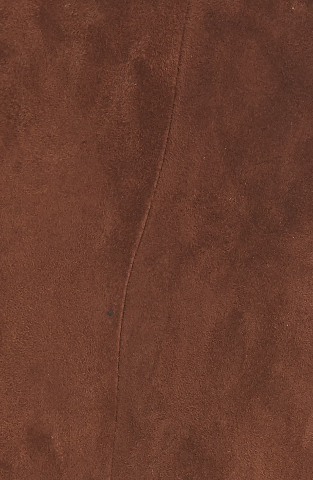 NILI LOTAN, Paris Leather Pants, Alternate thumbnail 6, color, DARK COGNAC
