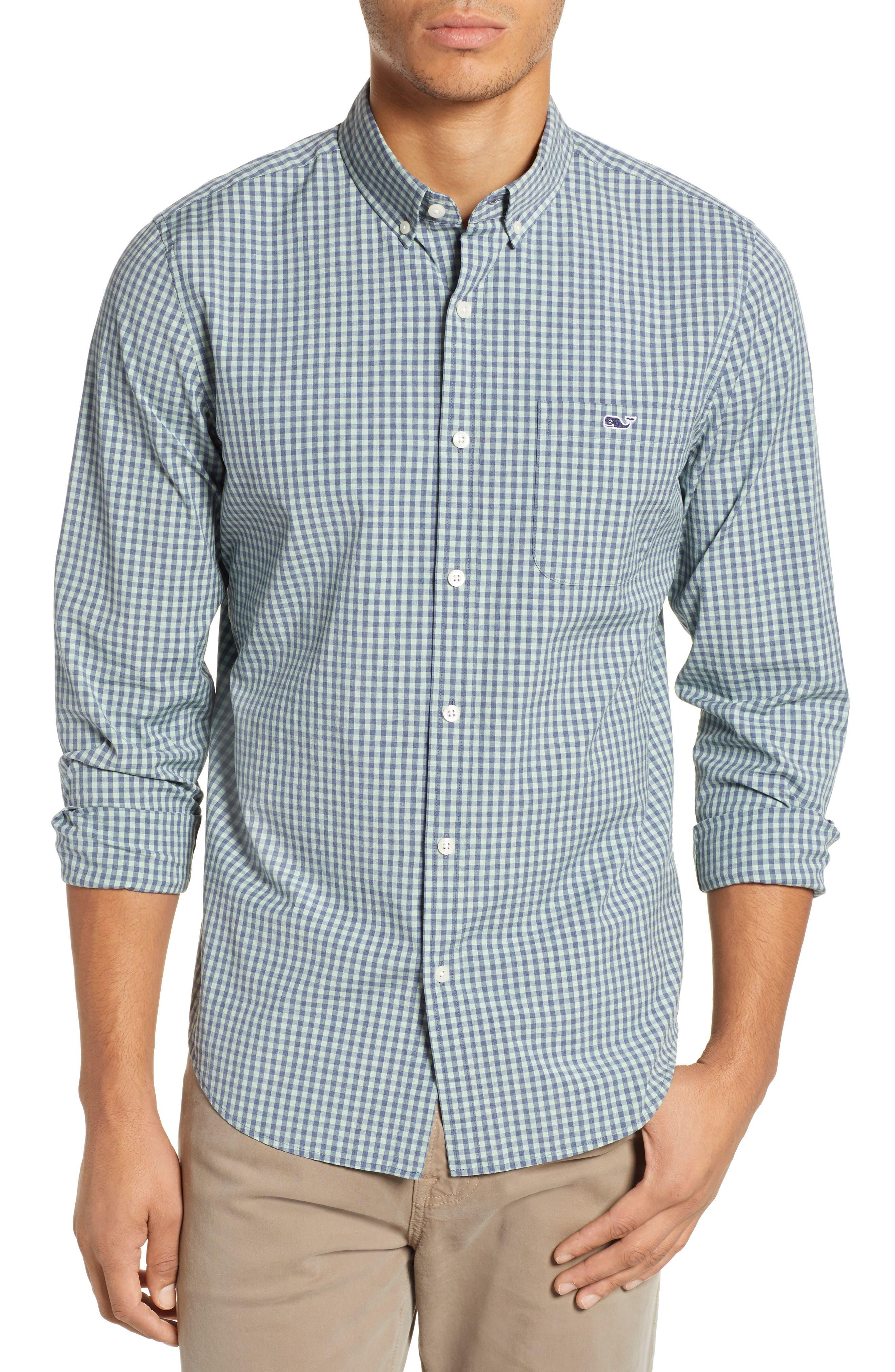 VINEYARD VINES Gingham Check Sport Shirt, Main, color, 362