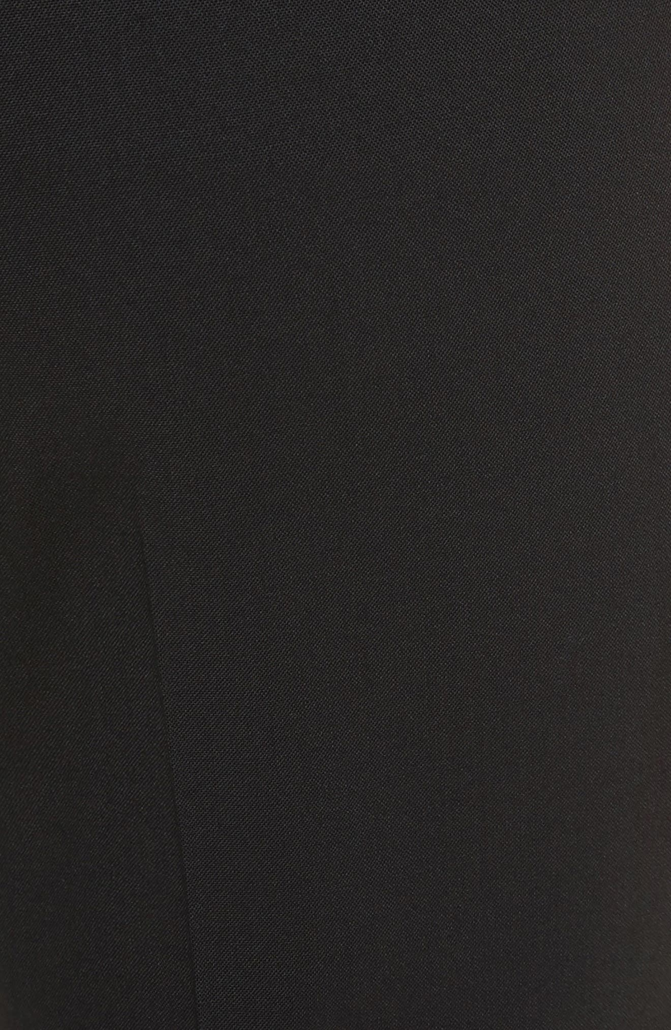 THEORY, Demetria 2 Flare Leg Good Wool Suit Pants, Alternate thumbnail 6, color, BLACK