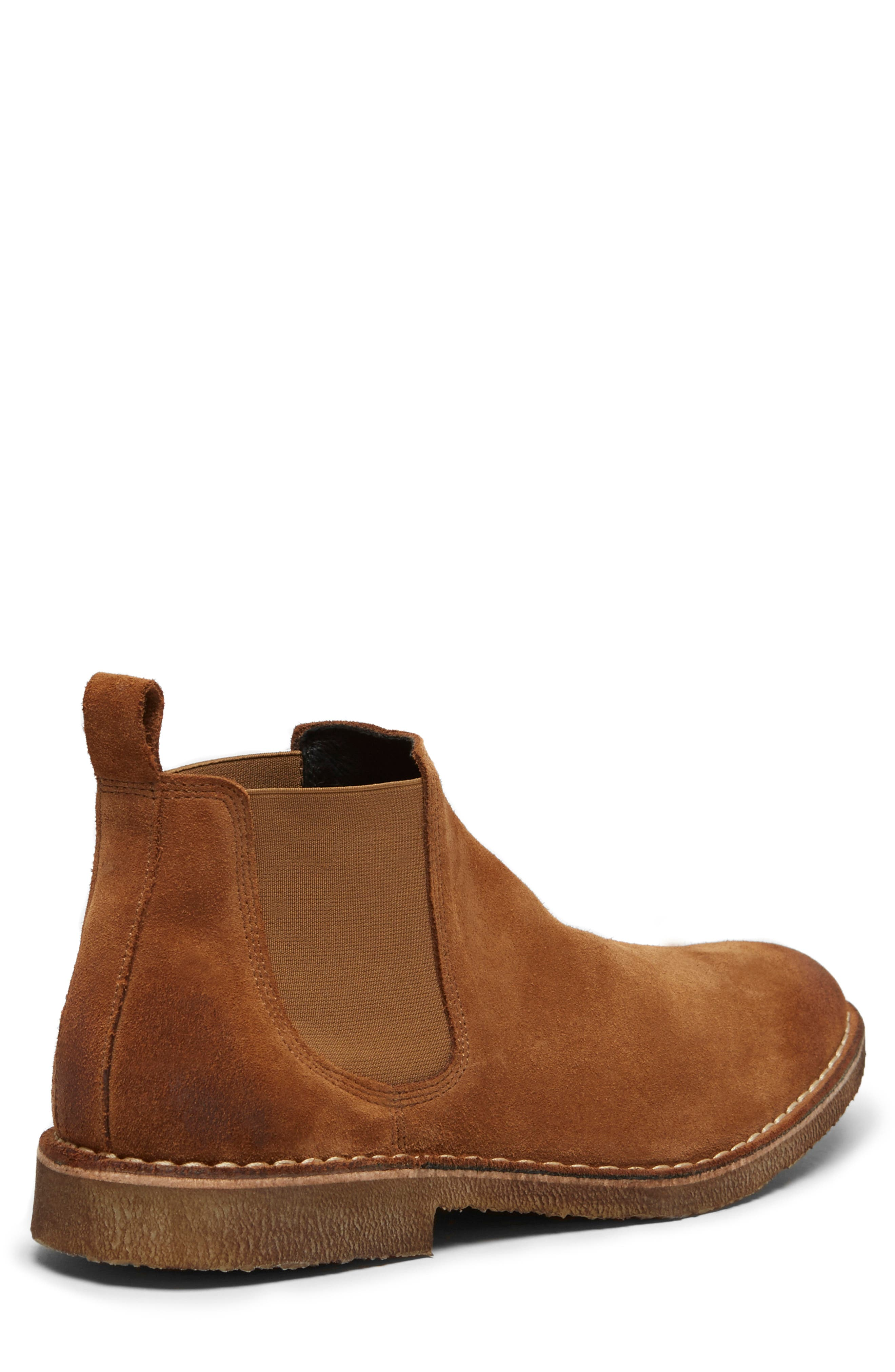 KENNETH COLE NEW YORK, Hewitt Chelsea Boot, Alternate thumbnail 4, color, RUST SUEDE