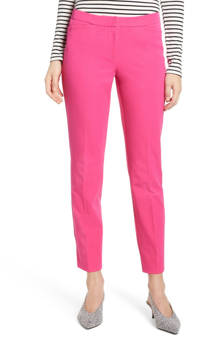 HALOGEN<SUP>®</SUP> Ankle Pants, Main, color, PINK MAGENTA