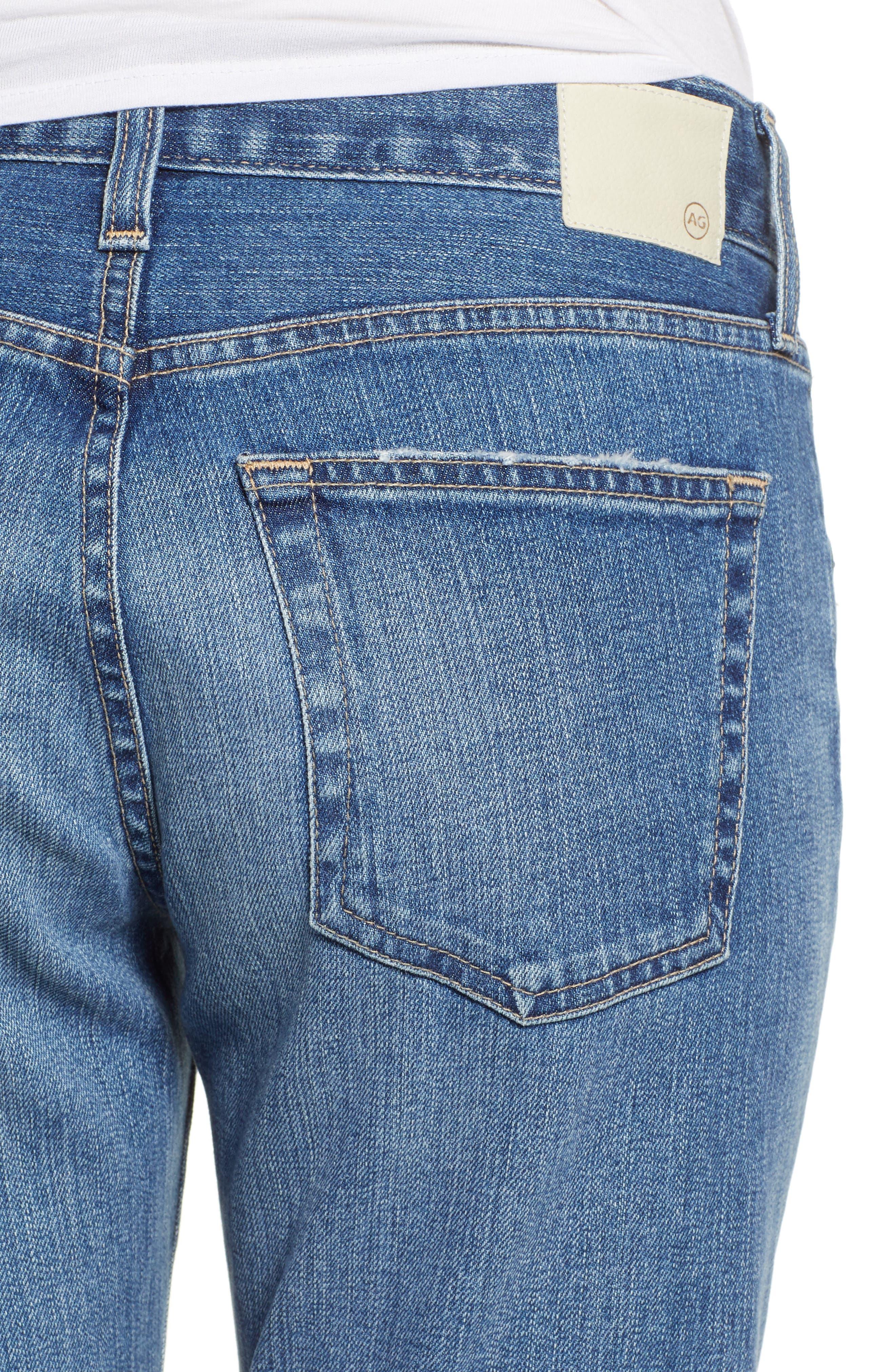 AG, Ex-Boyfriend Crop Slim Jeans, Alternate thumbnail 5, color, 417