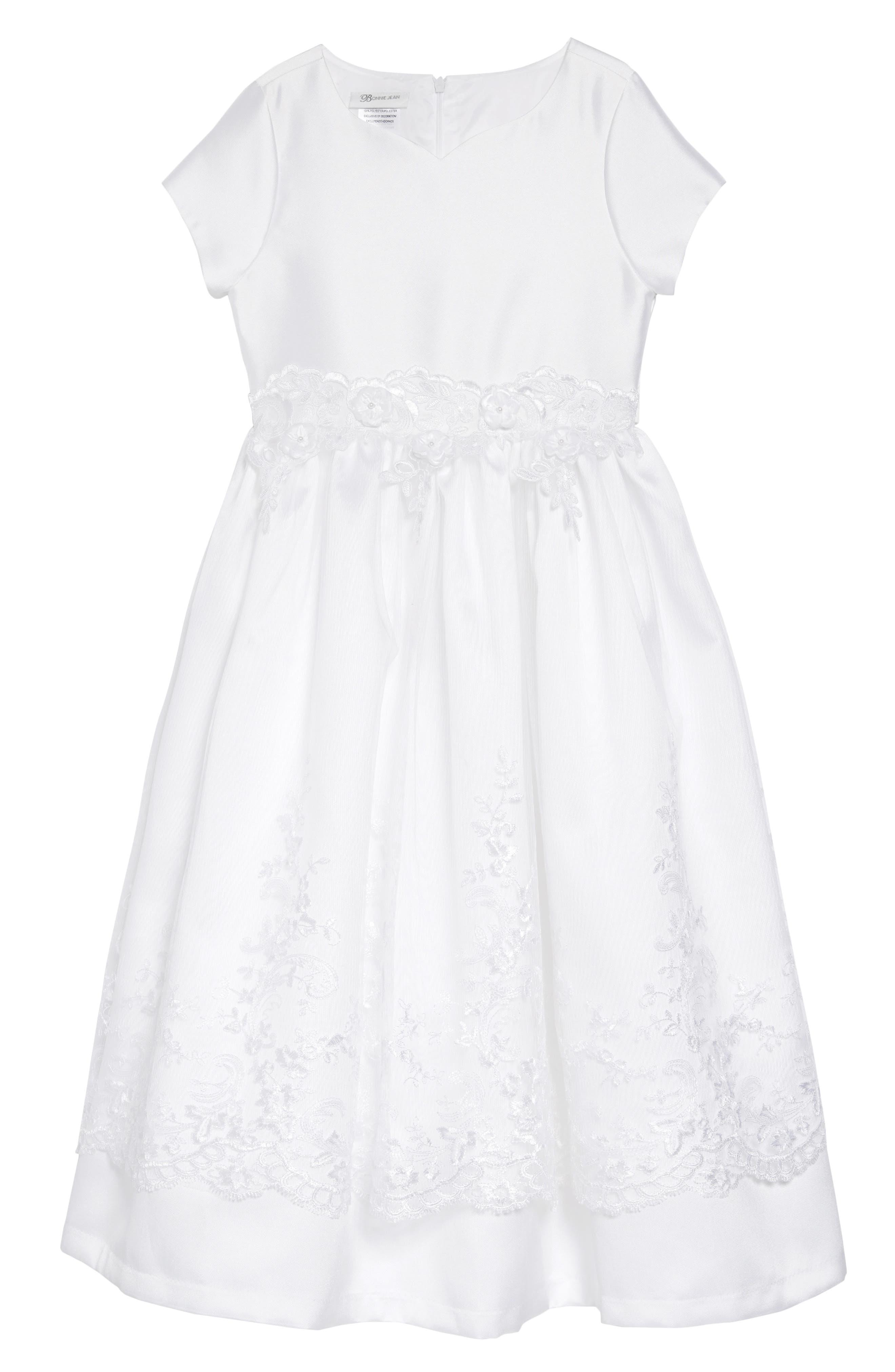 IRIS & IVY, Sweetheart Mikado Dress, Main thumbnail 1, color, WHITE