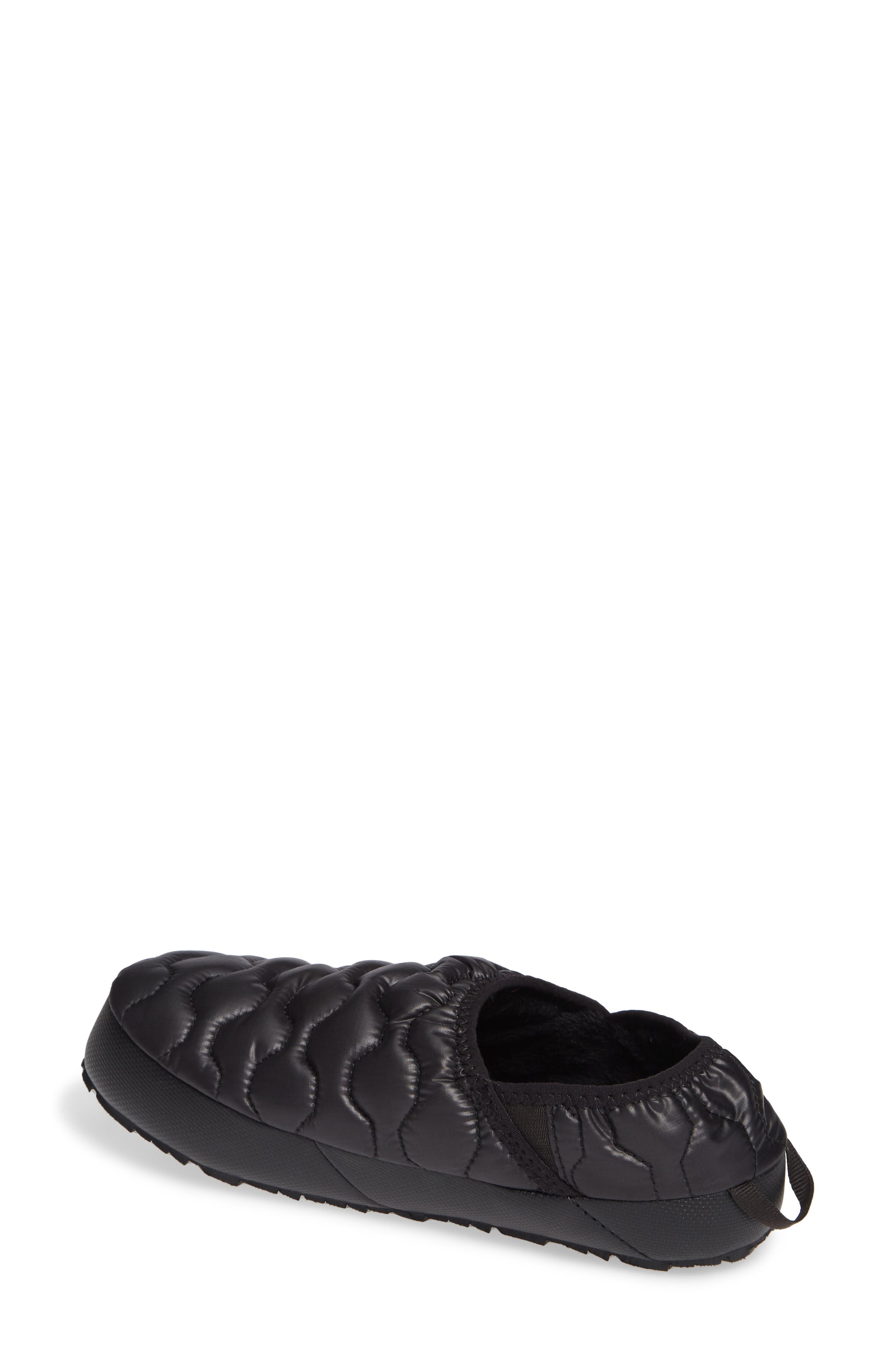 THE NORTH FACE, Thermoball<sup>™</sup> Water Resistant Traction Mule, Alternate thumbnail 2, color, SHINY BLACK/ BELUGA GREY