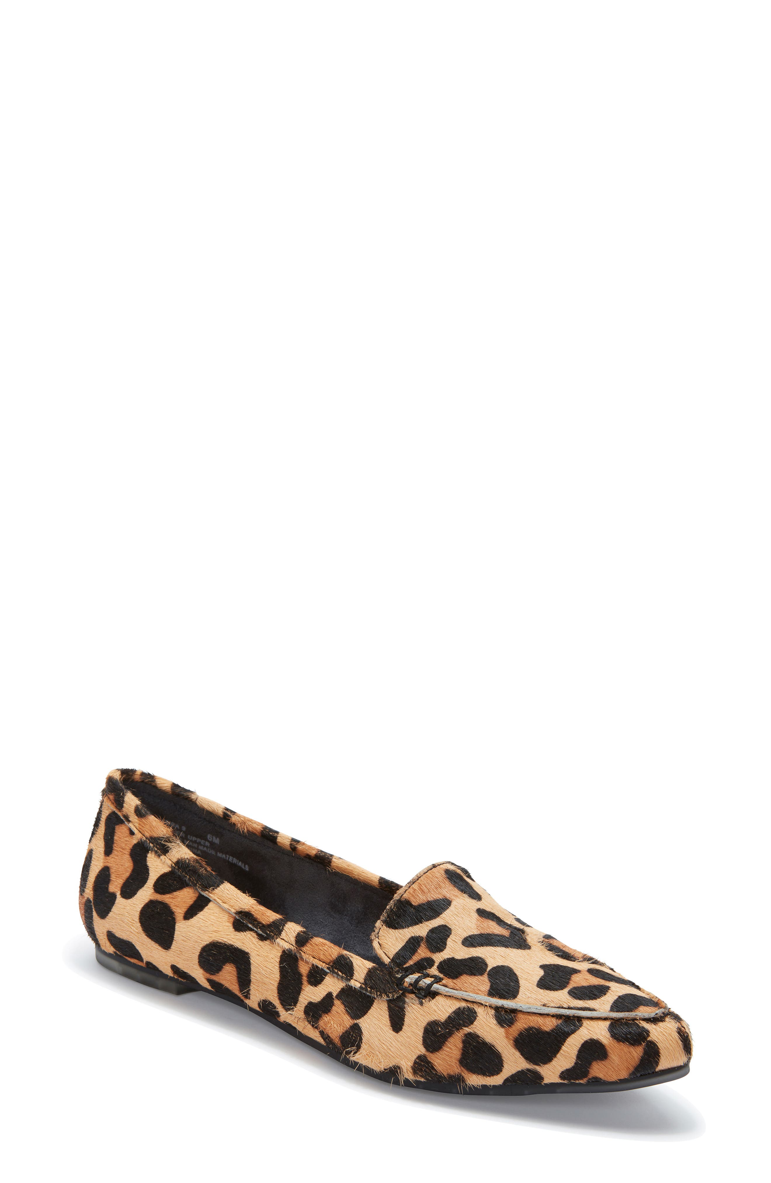 ME TOO, Audra Genuine Calf Hair Loafer Flat, Main thumbnail 1, color, TAN JAGUAR CALF HAIR