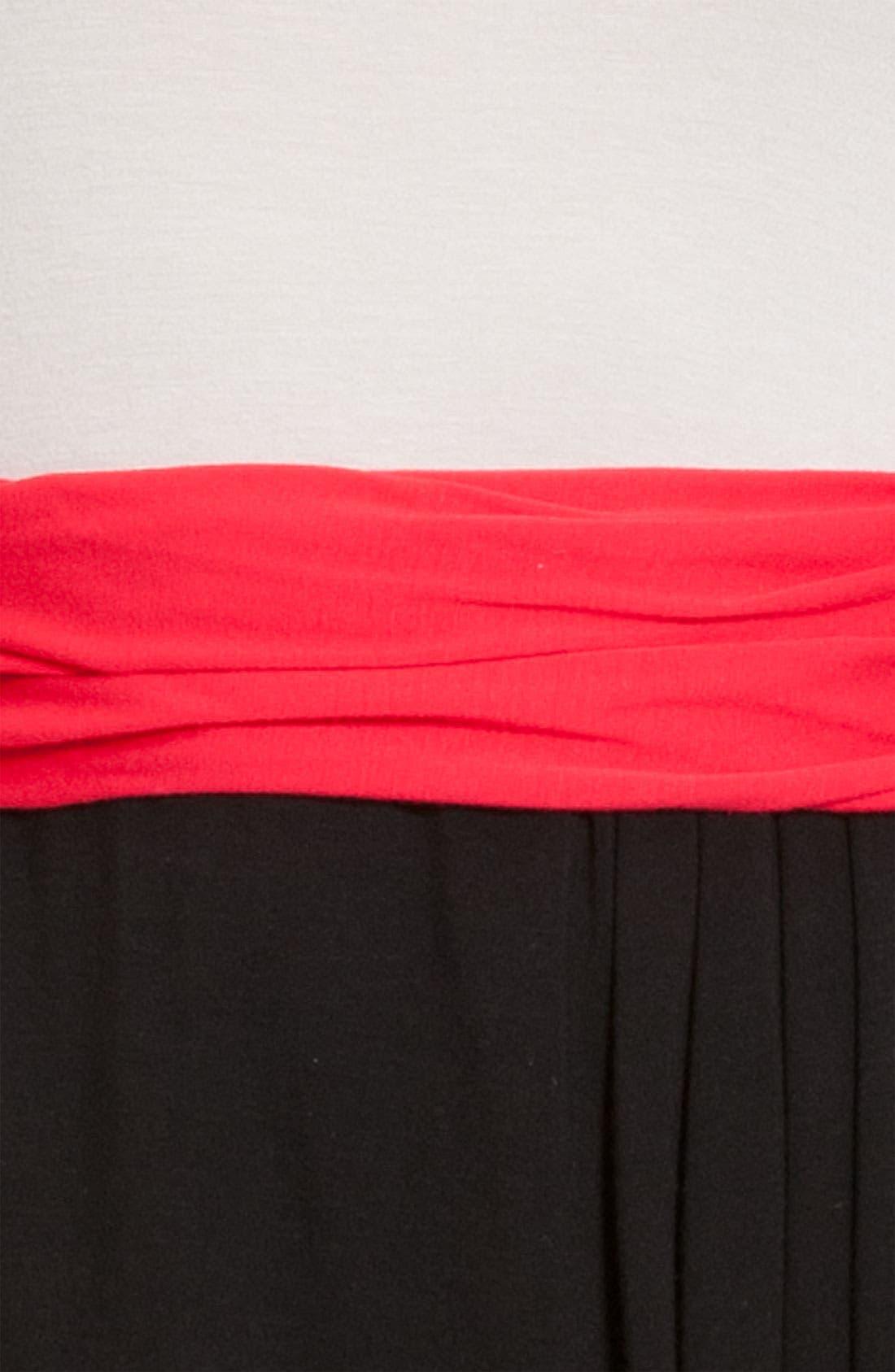 DKNYC, Sleeveless V-Neck Dress, Alternate thumbnail 3, color, 600