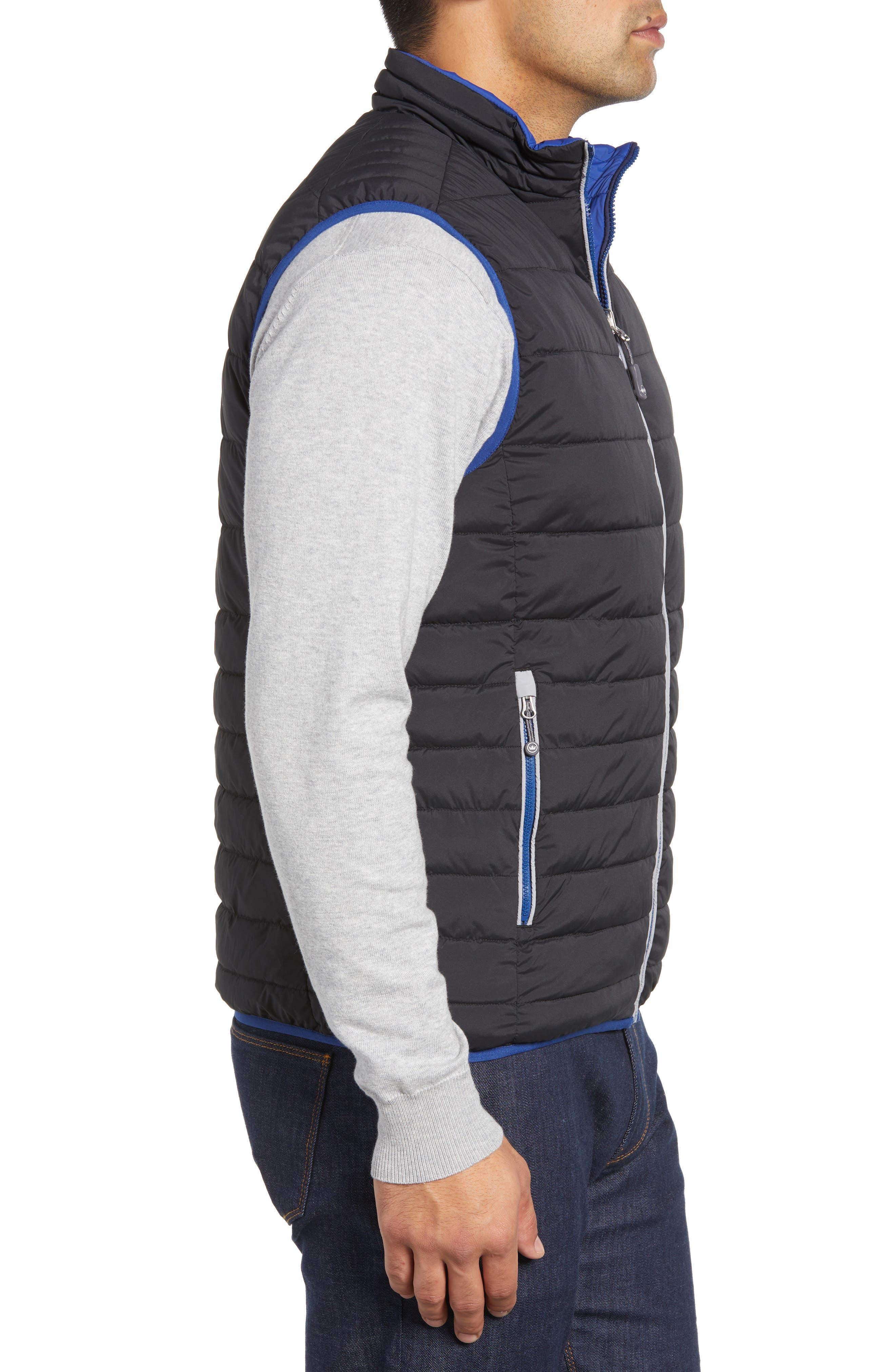 PETER MILLAR, Crown Elite Reversible Vest, Alternate thumbnail 5, color, BLACK/SAIL