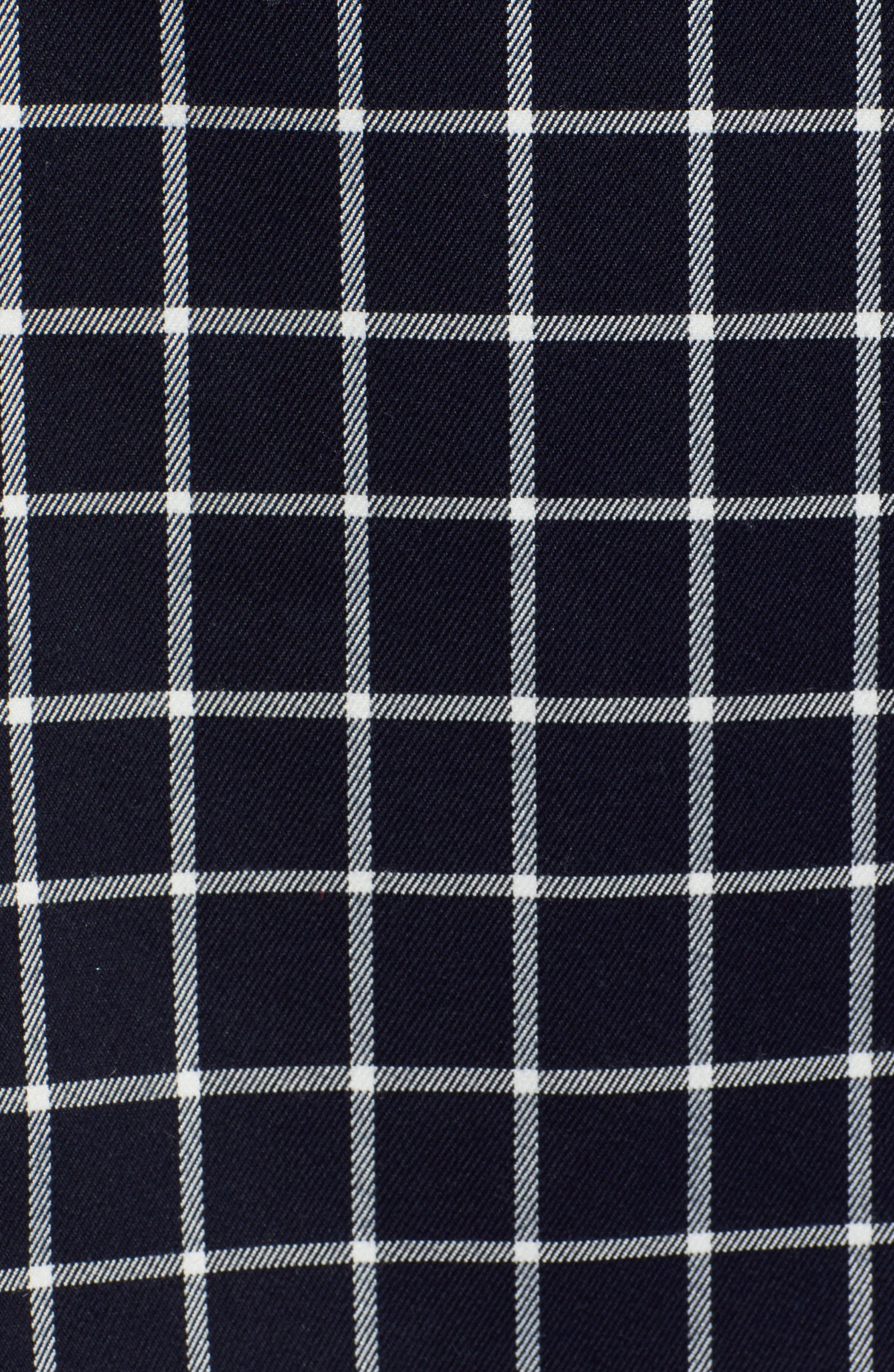 HALOGEN<SUP>®</SUP>, Tie Waist Check Skirt, Alternate thumbnail 5, color, NAVY CHECK