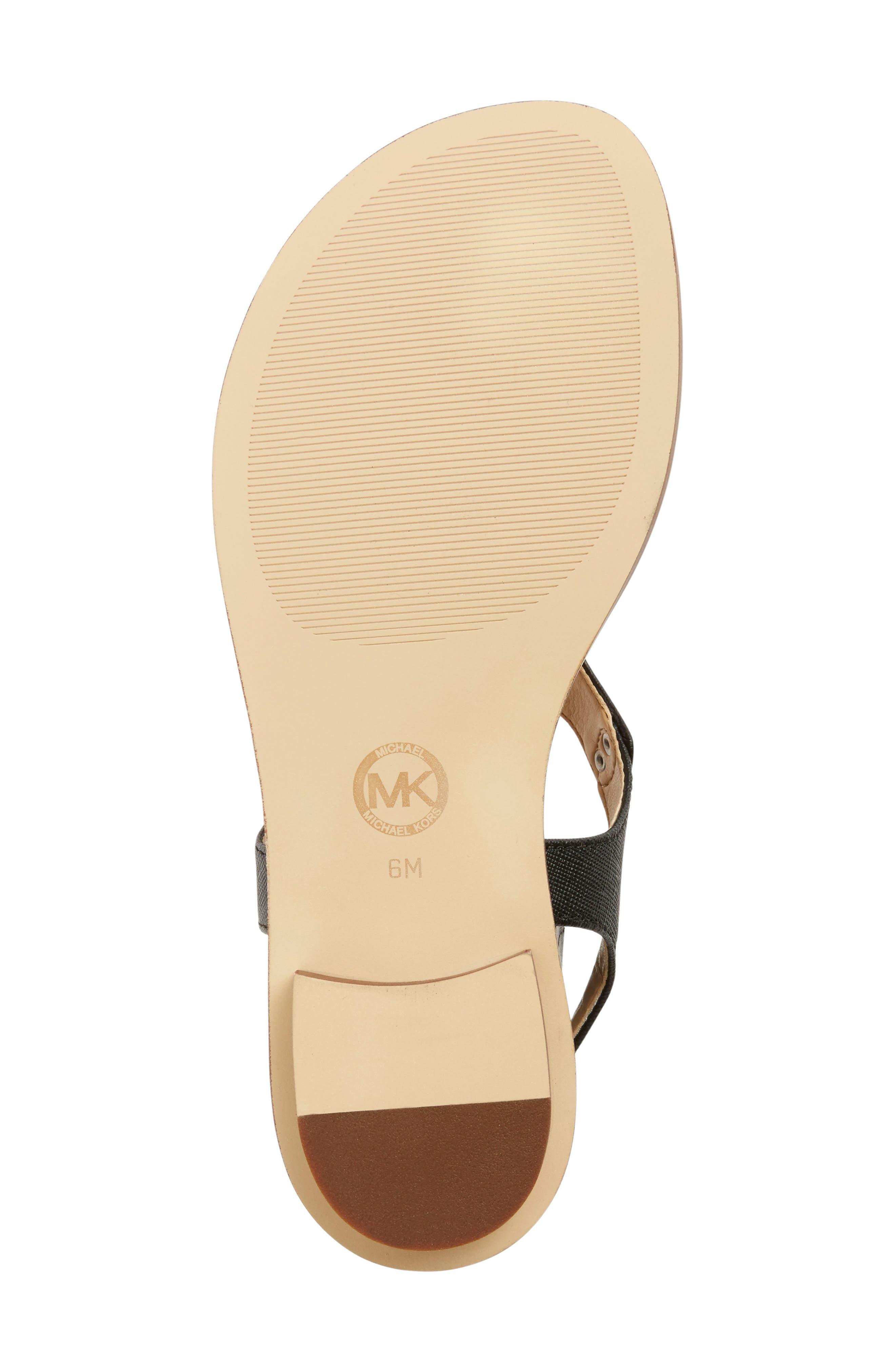 MICHAEL MICHAEL KORS, 'Plate' Sandal, Alternate thumbnail 3, color, BLACK