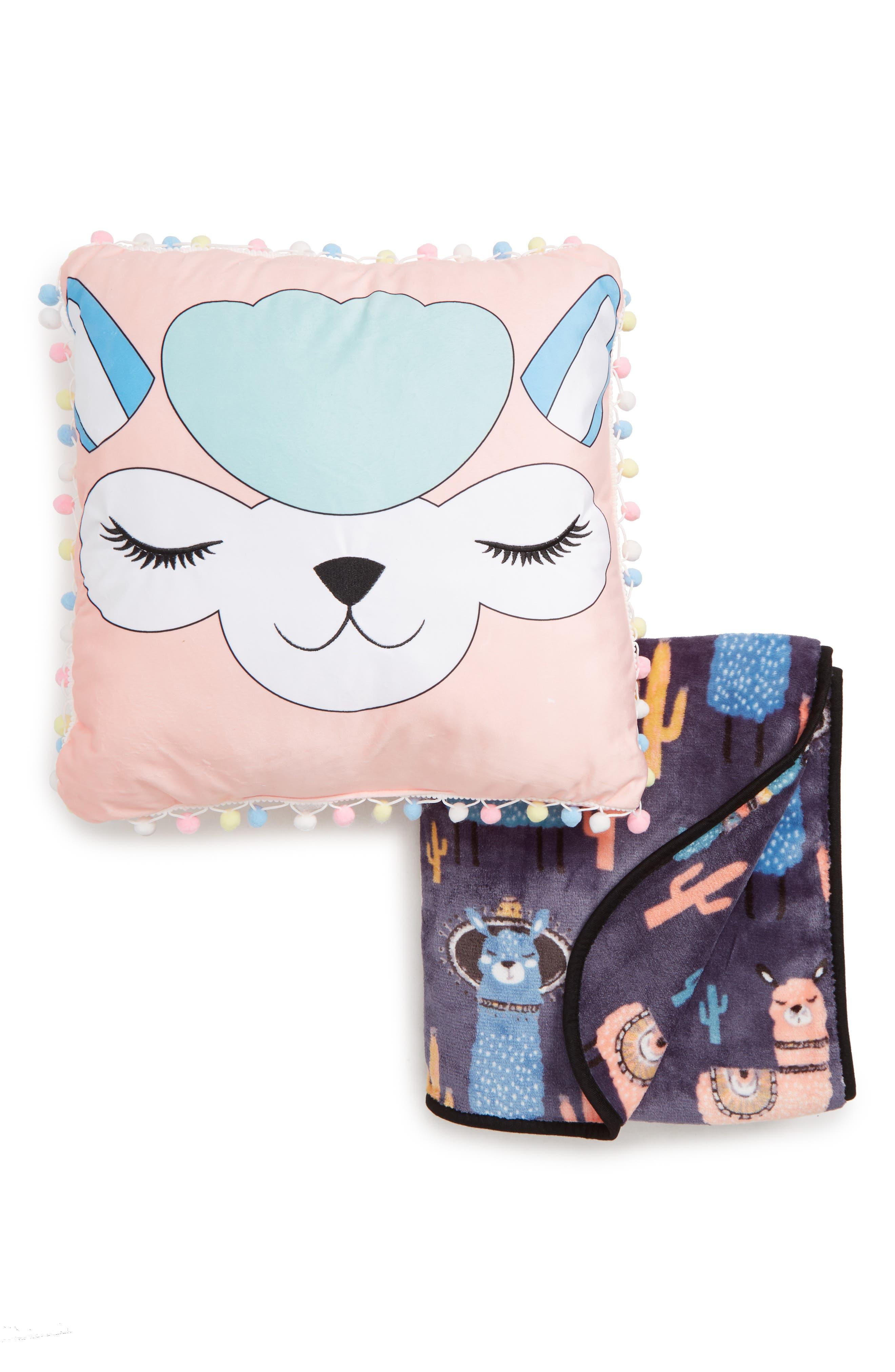 Under One Sky Alpaca Throw  Pillow Set Size One Size  Pink