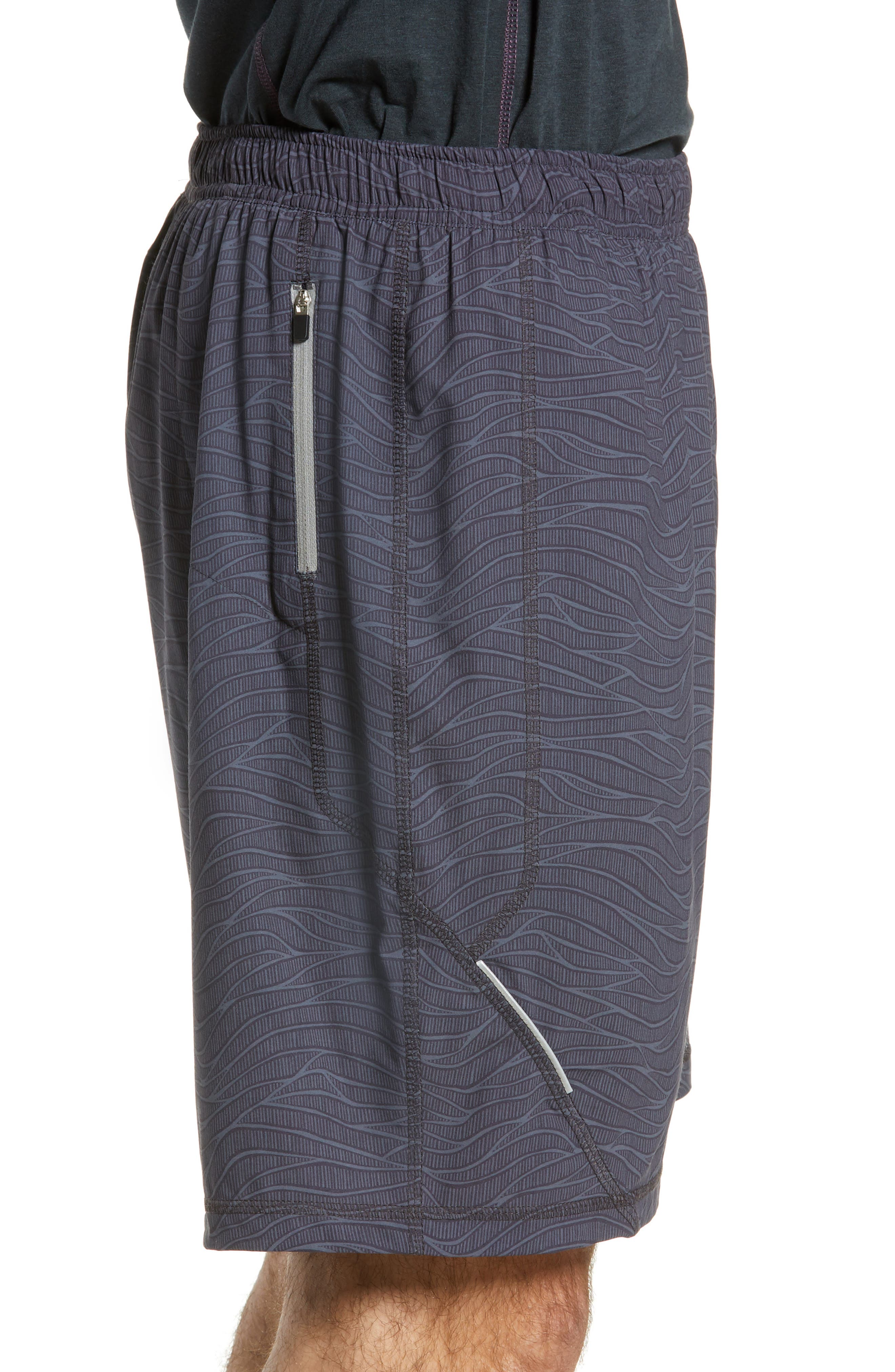 TASC PERFORMANCE, Propulsion Athletic Shorts, Alternate thumbnail 4, color, BLACK SONIC WAVE