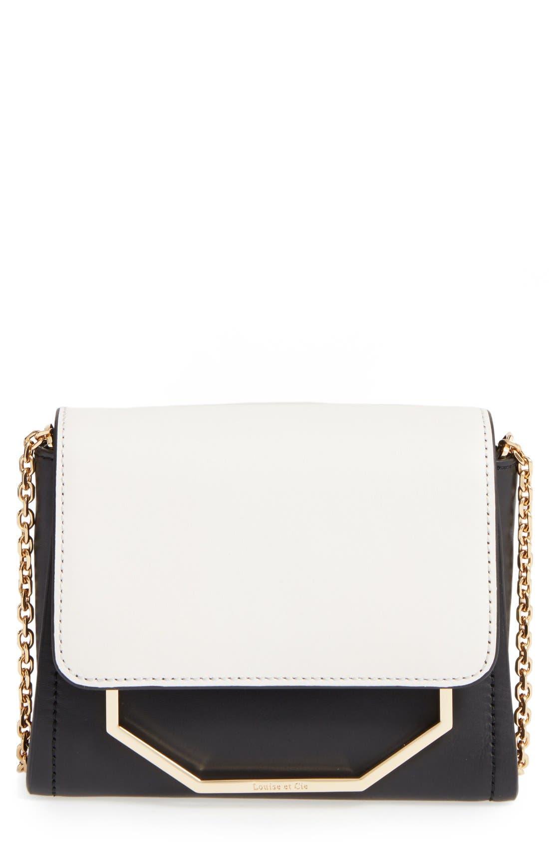 LOUISE ET CIE 'Towa Micro' Colorblock Leather Bag, Main, color, 100