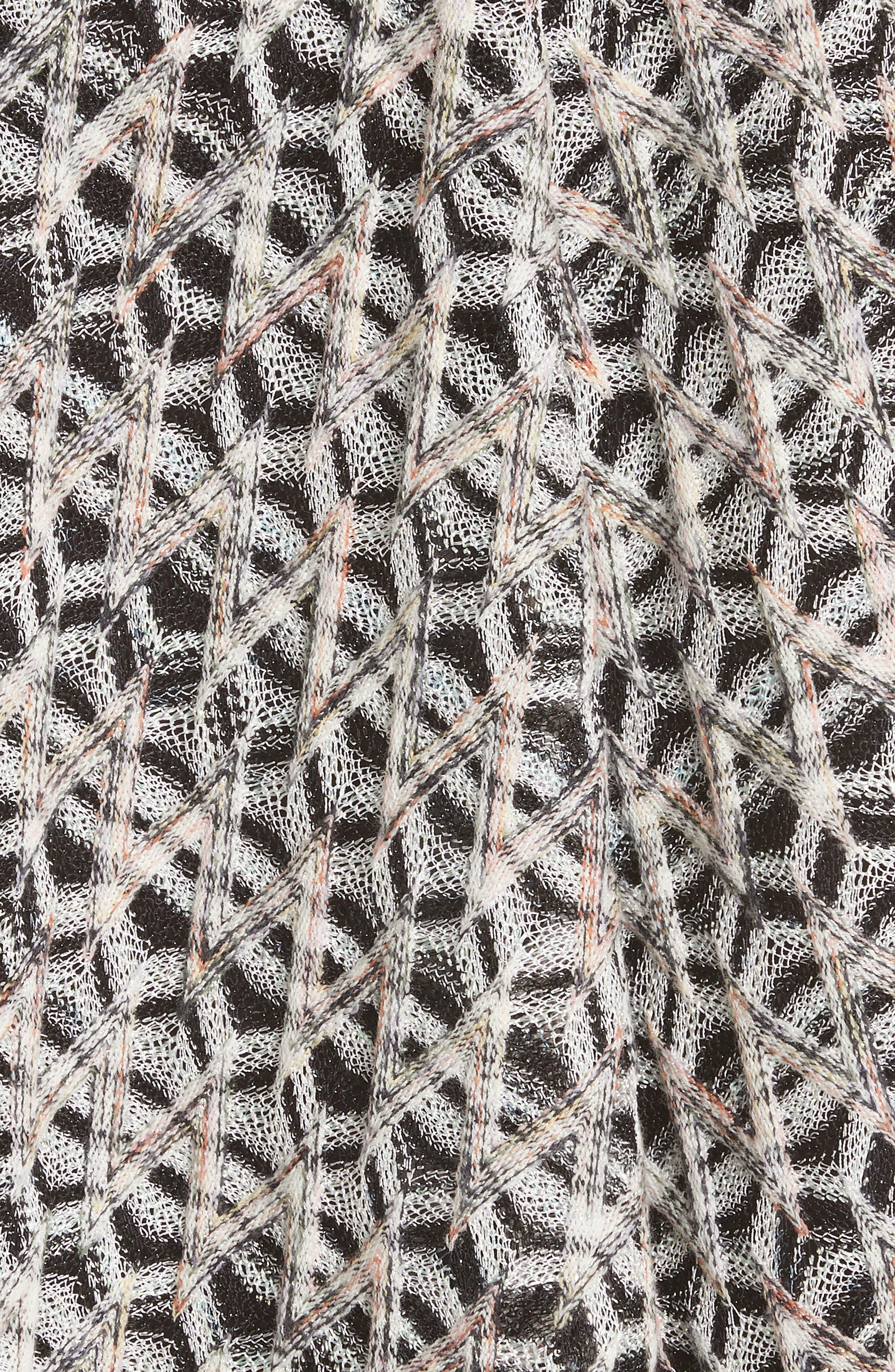 MISSONI, Zig Zag A-Line Skirt, Alternate thumbnail 5, color, MULTI