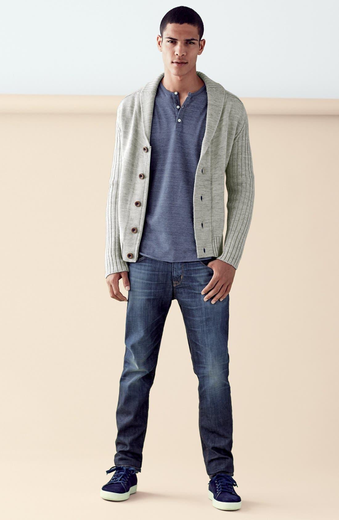 HUDSON JEANS, 'Blake' Slim Fit Jeans, Alternate thumbnail 6, color, 409