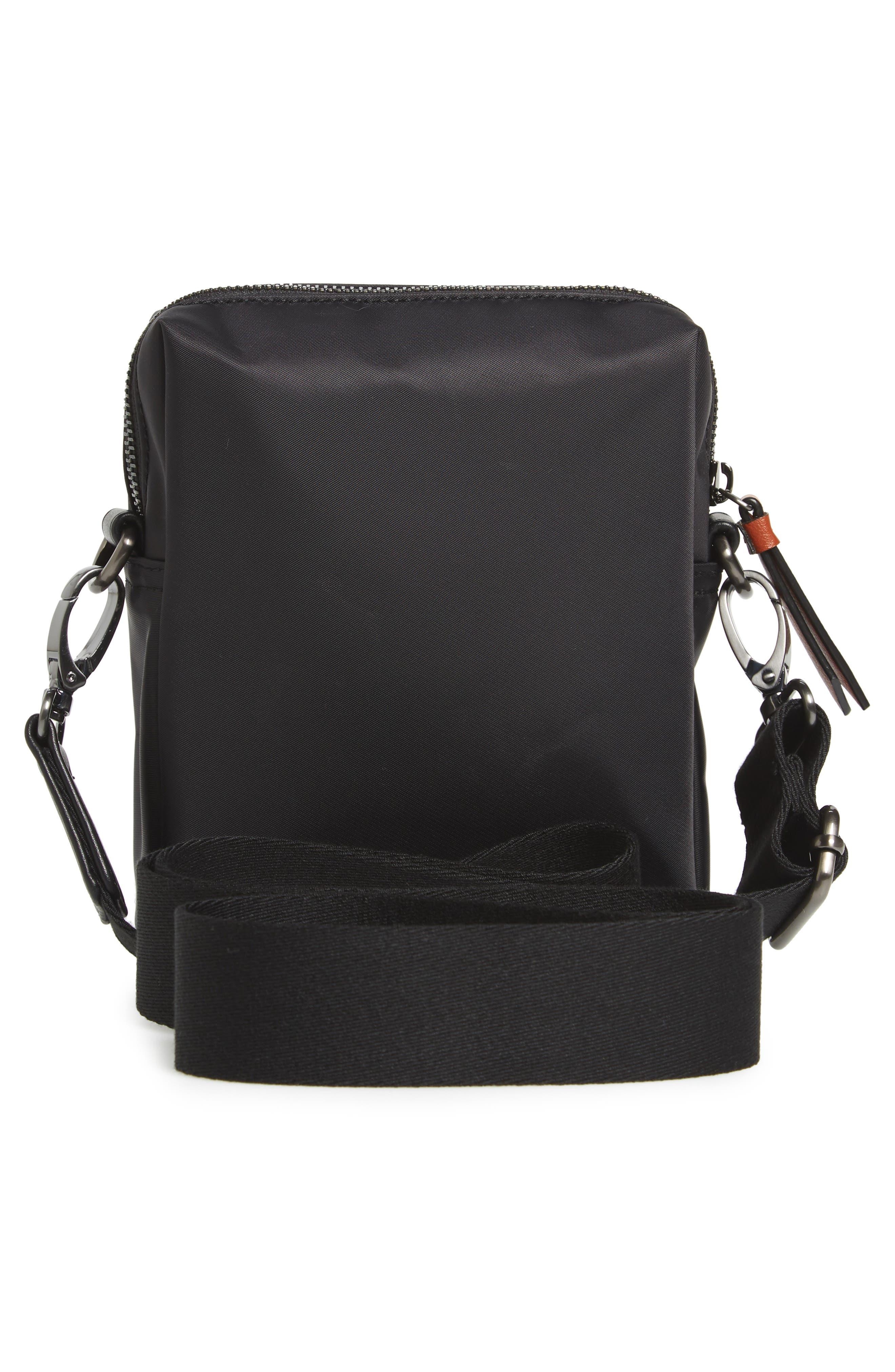 TED BAKER LONDON, Mini Flight Bag, Alternate thumbnail 3, color, BLACK