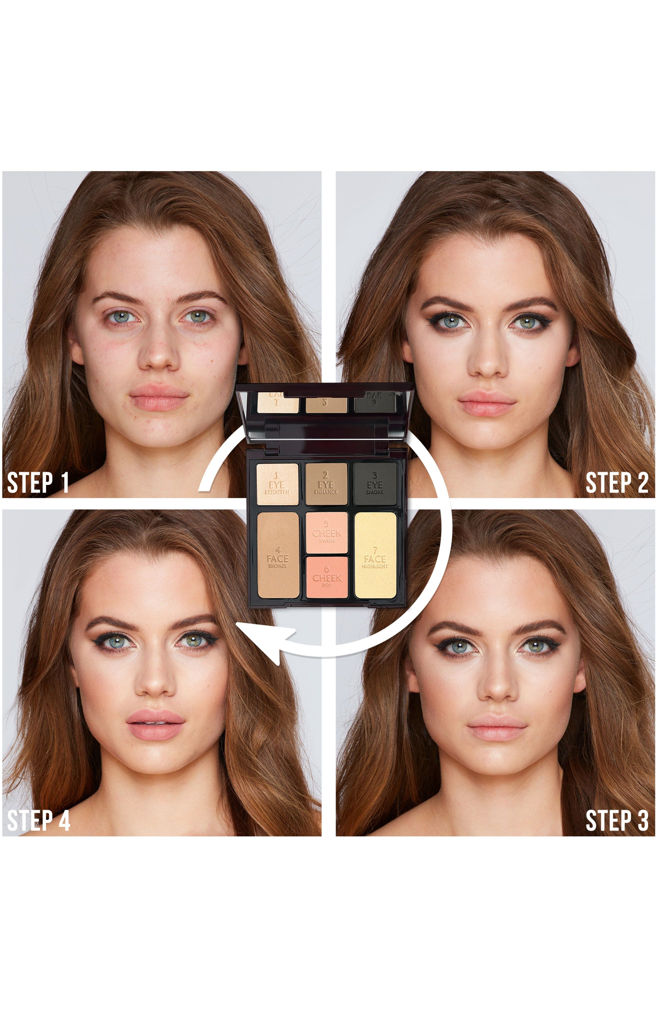CHARLOTTE TILBURY, Instant Look in a Palette Smoky Eye Beauty, Alternate thumbnail 4, color, NO COLOR