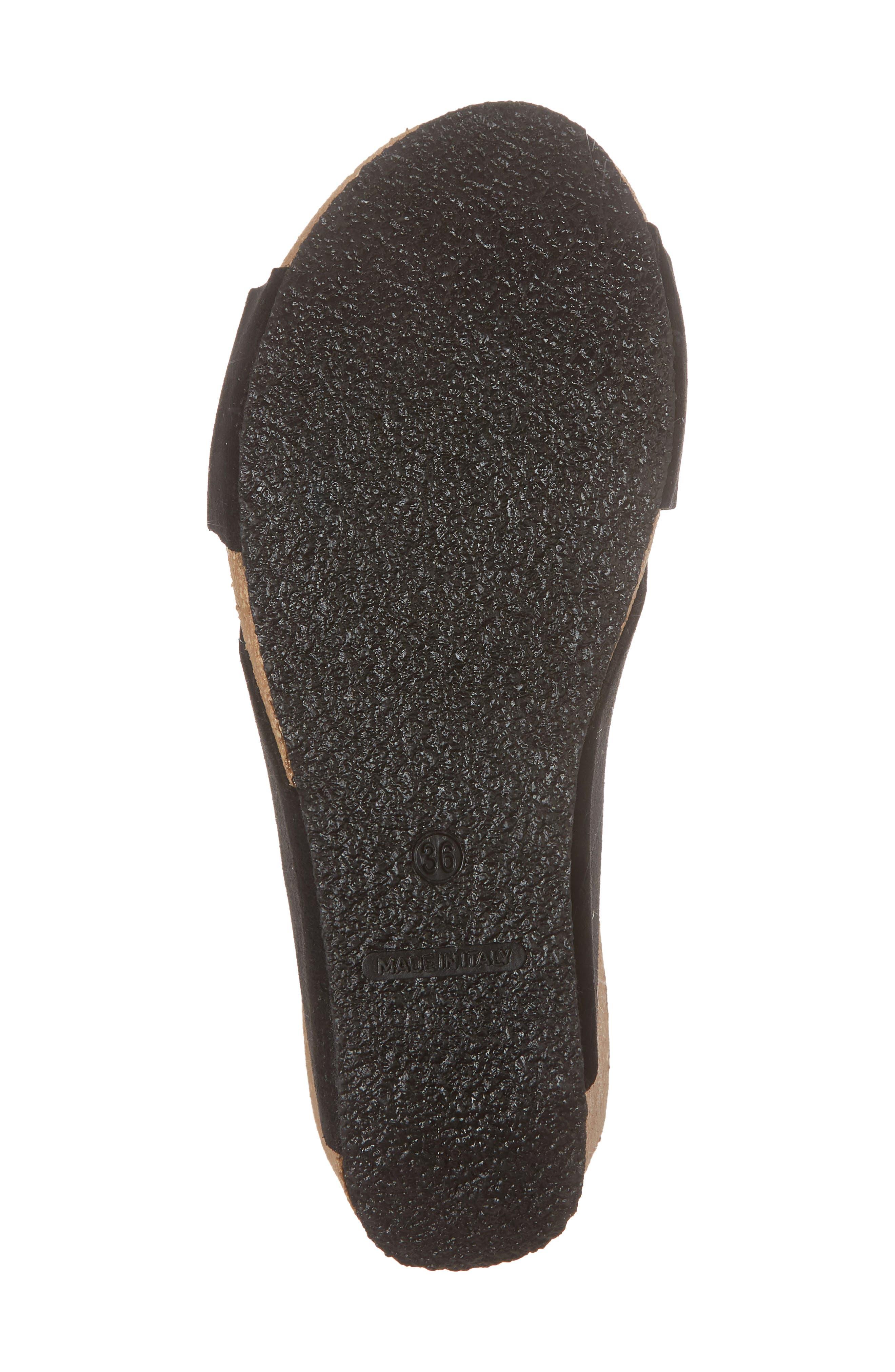 BOS. & CO., Lomi Platform Wedge Slide Sandal, Alternate thumbnail 6, color, BLACK SUEDE