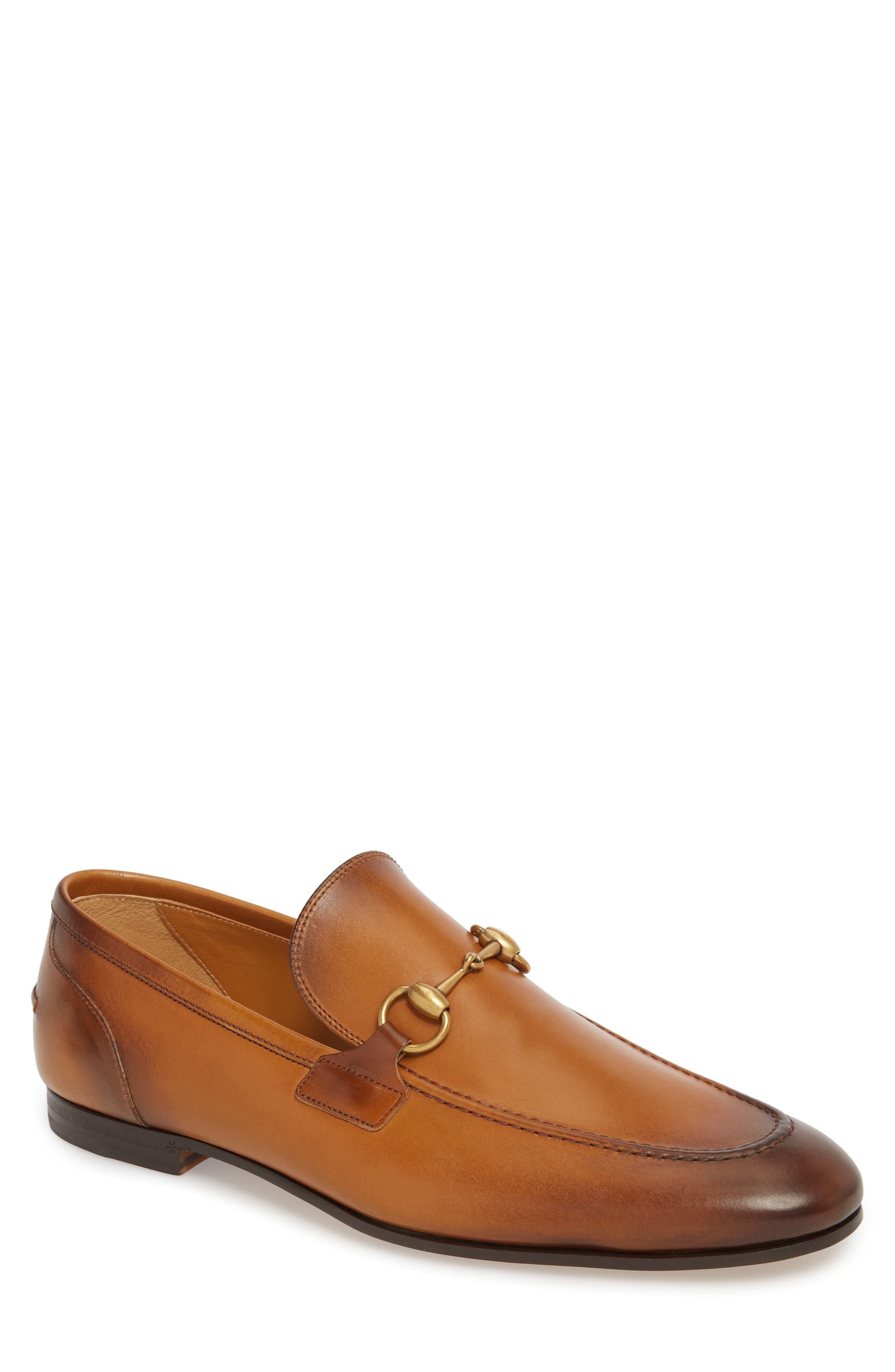 GUCCI Jordaan Bit Loafer, Main, color, BROWN