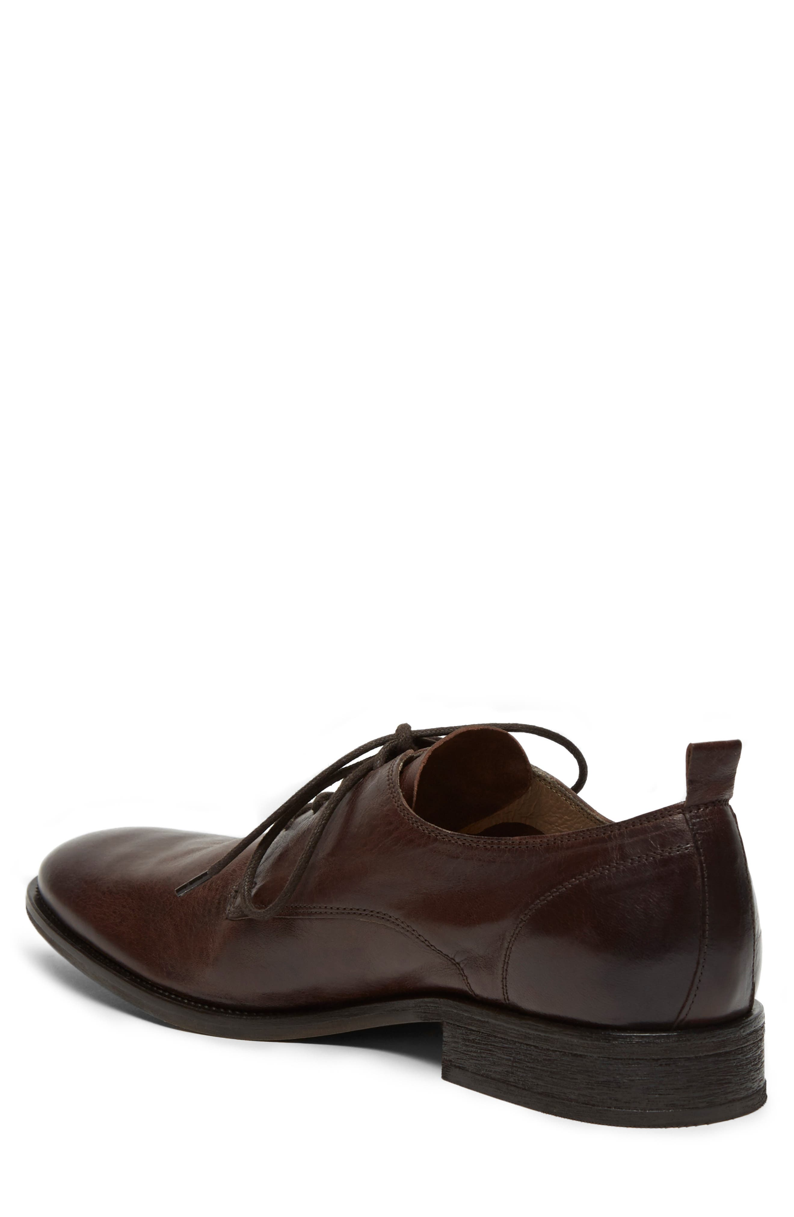 KENNETH COLE NEW YORK, Indio Plain Toe Derby, Alternate thumbnail 2, color, BROWN LEATHER