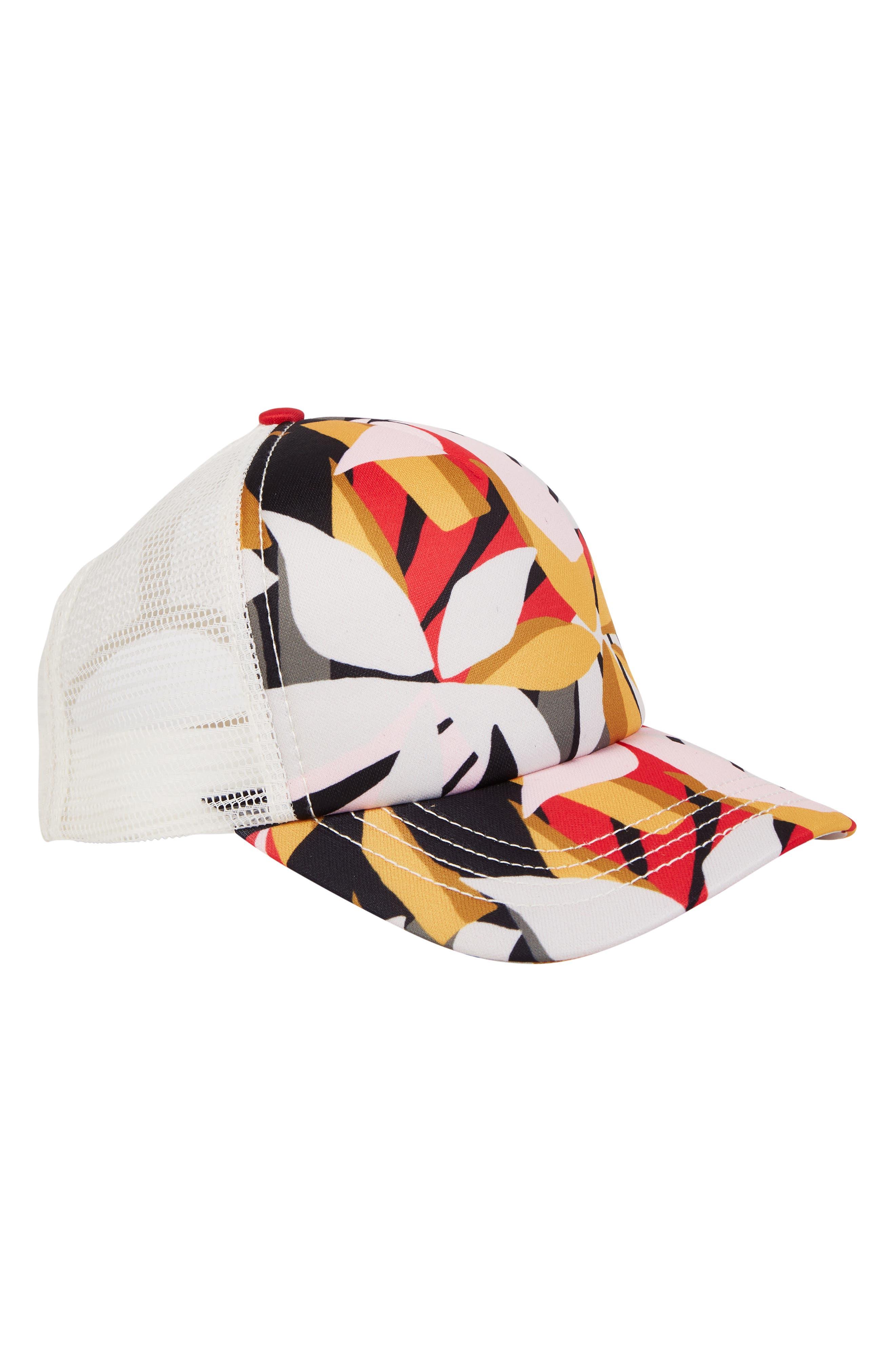 BILLABONG Shenanigans Snapback Cap, Main, color, PINK MULTI