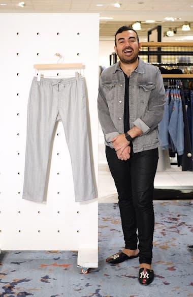 Skinny Fit Stripe Crop Trousers, sales video thumbnail