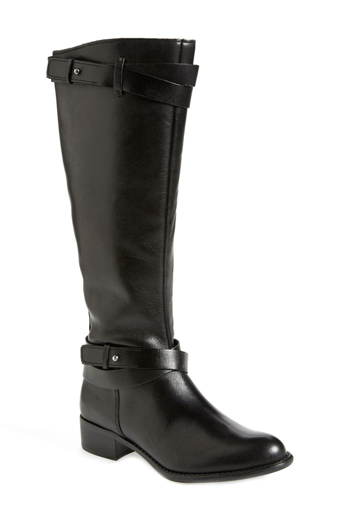 FRANCO SARTO, 'Canary' Leather Riding Boot, Main thumbnail 1, color, 001