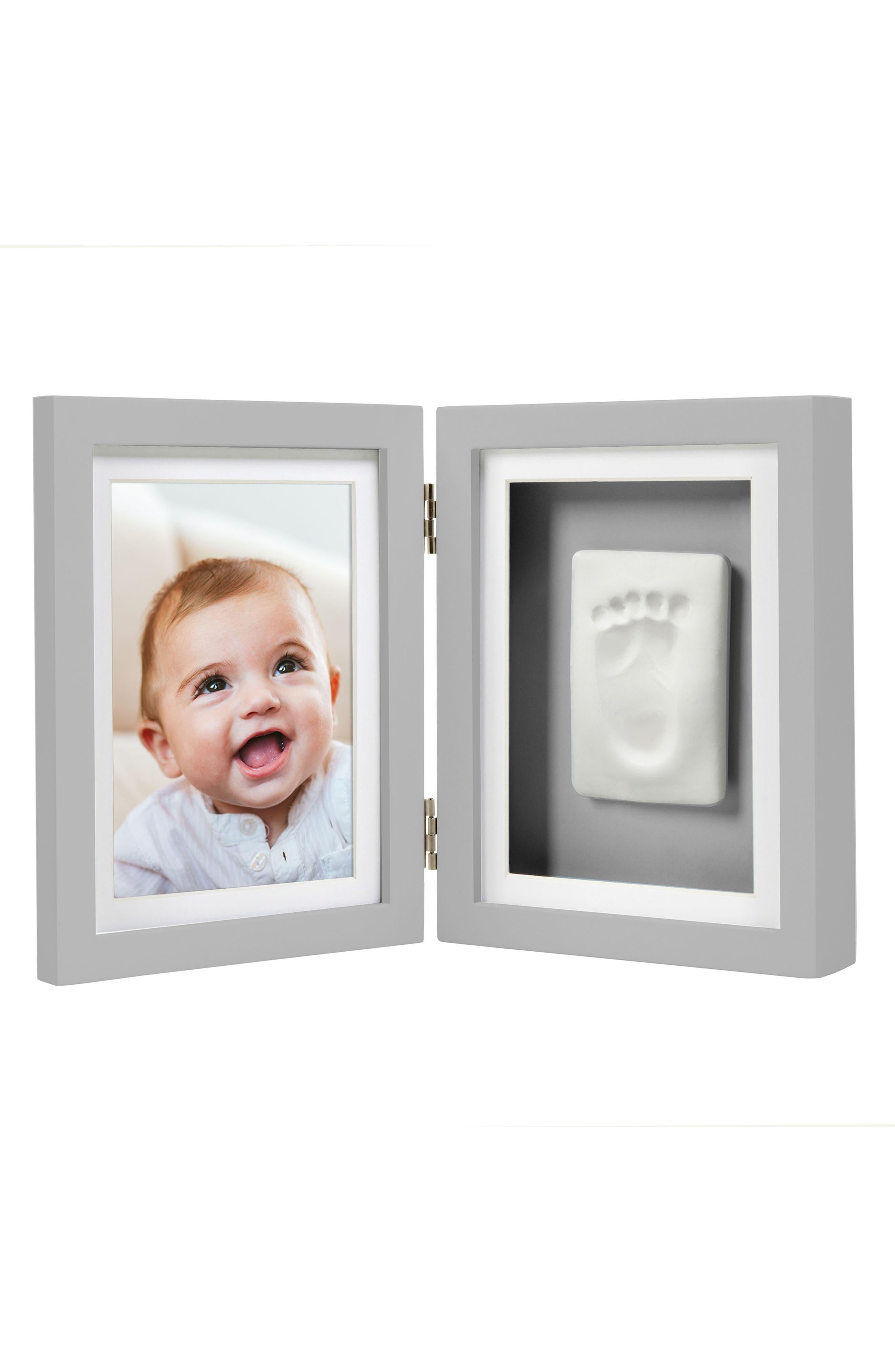 PEARHEAD, Babyprints Desk Frame, Main thumbnail 1, color, GREY