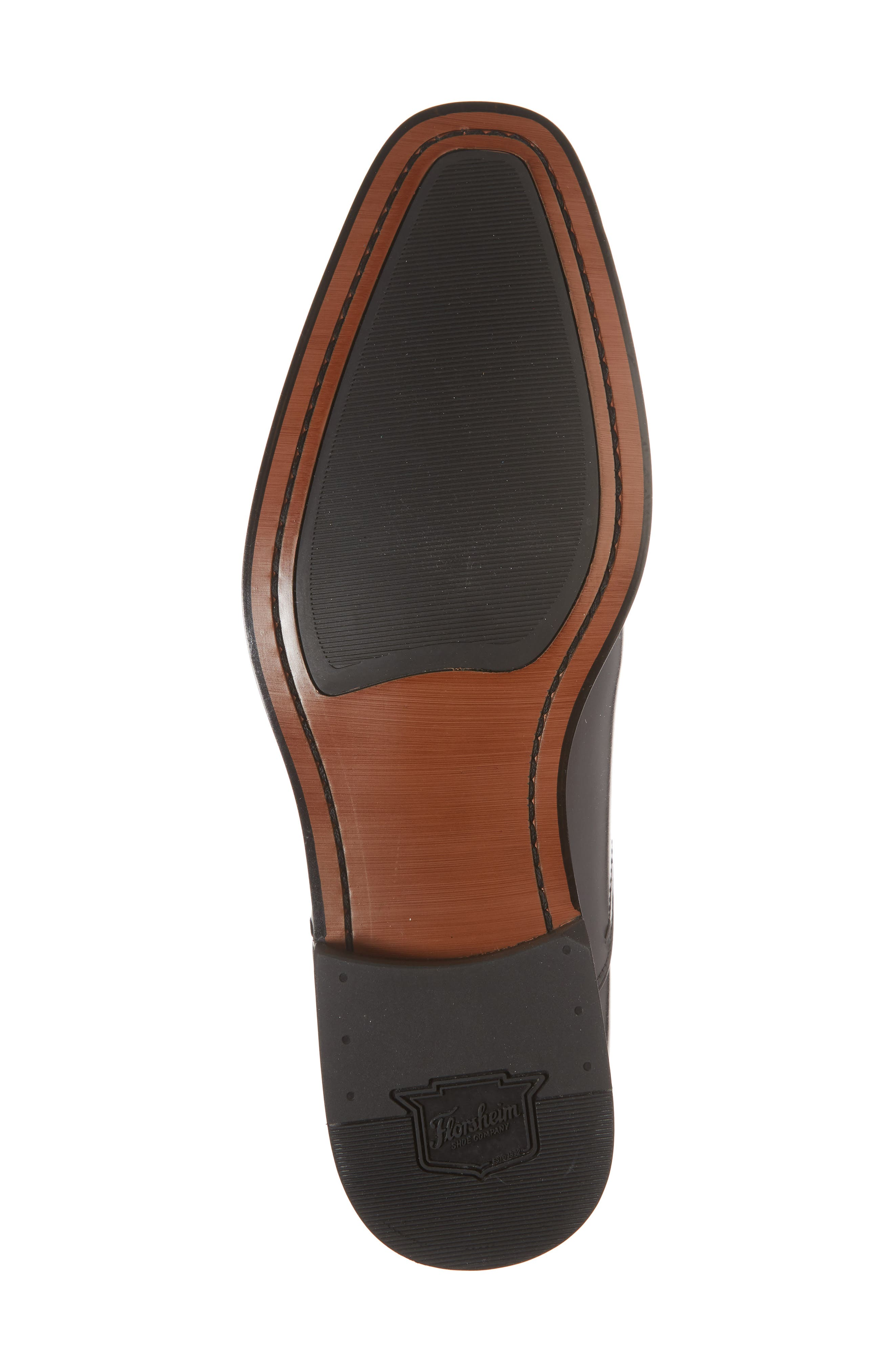 FLORSHEIM, Belfast Brogued Derby, Alternate thumbnail 6, color, GRAY/ BLACK LEATHER