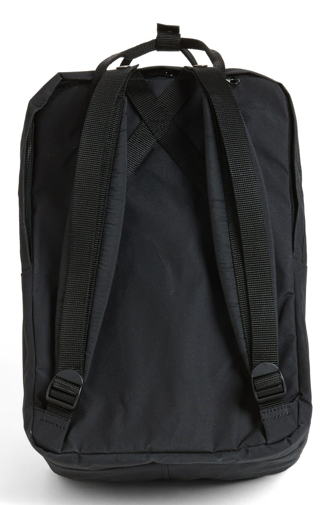 FJÄLLRÄVEN, 'Kånken' Laptop Backpack, Alternate thumbnail 10, color, BLACK