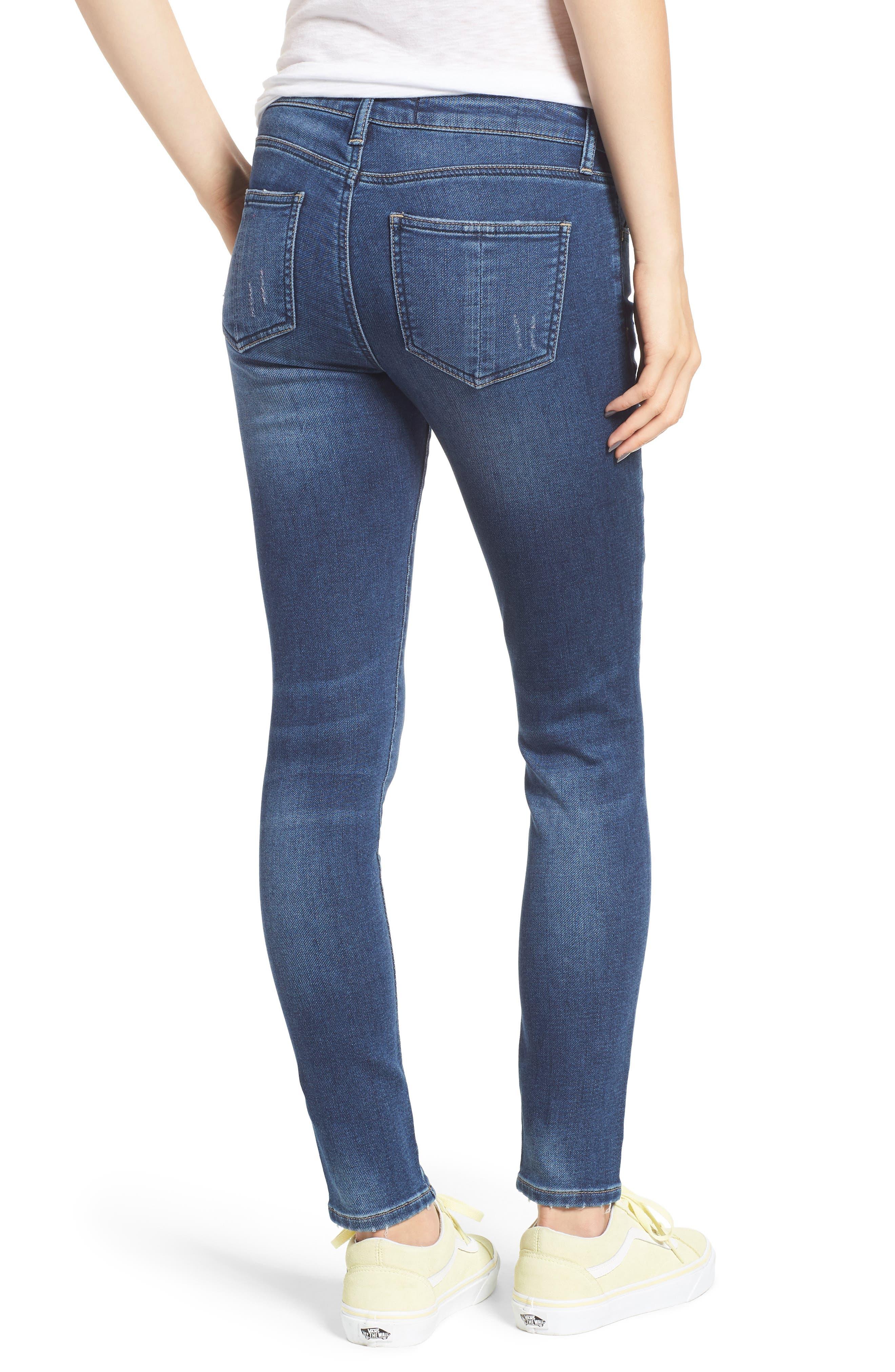 PROSPERITY DENIM, Skinny Jeans, Alternate thumbnail 2, color, DARK