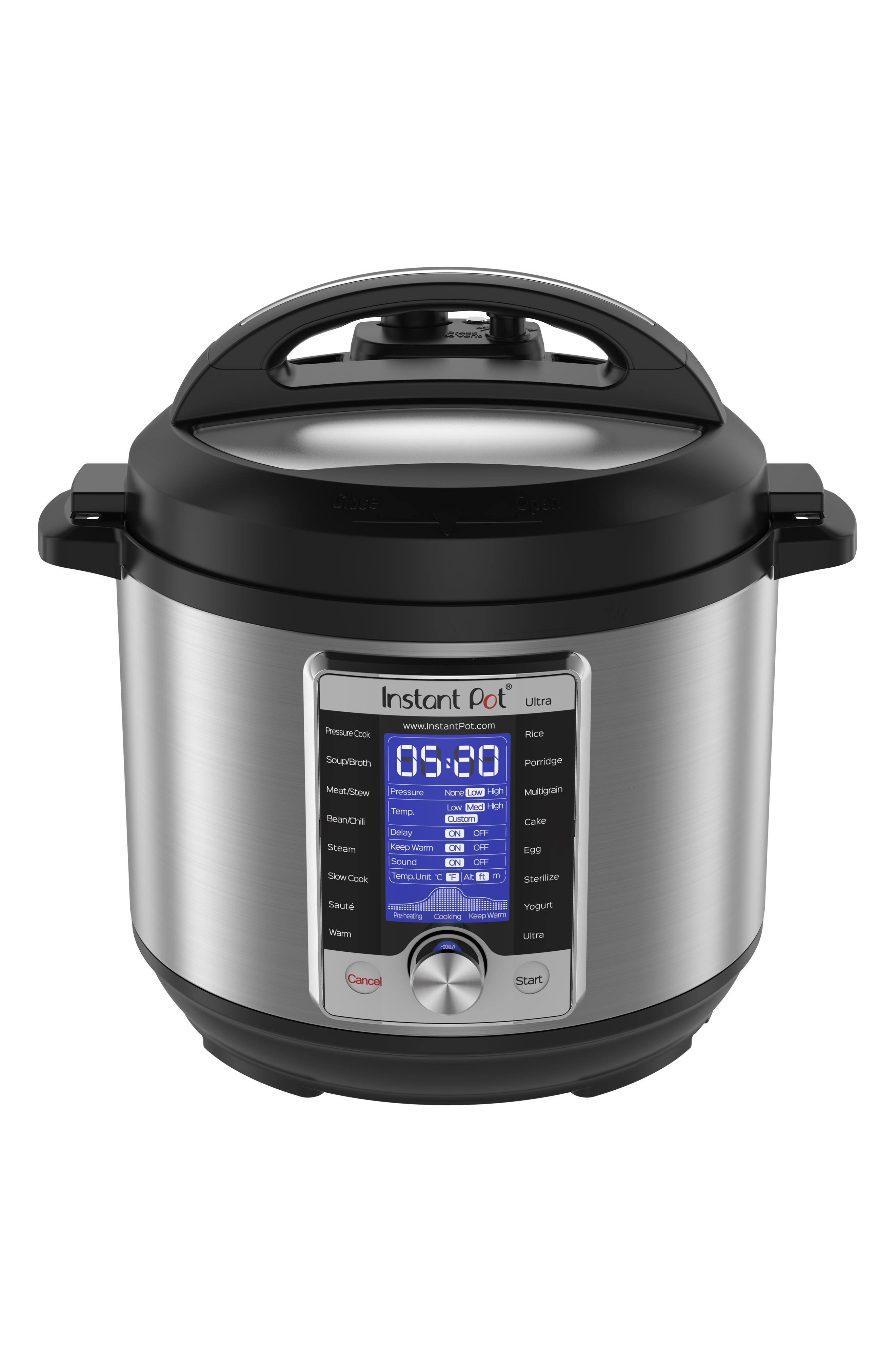 INSTANT POT, Ultra 6-Quart 10-in-1 Multiuse Programmable Cooker, Main thumbnail 1, color, SILVER