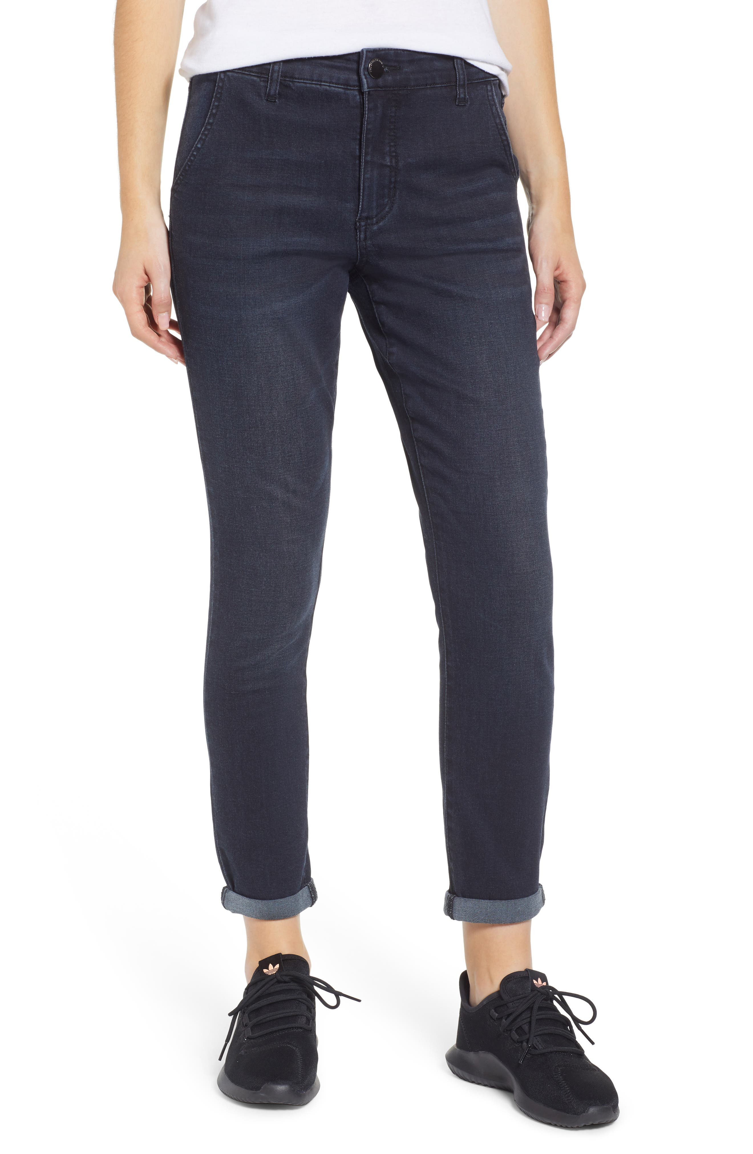 PROSPERITY DENIM High Waist Ankle Boyfriend Jeans, Main, color, ROCKER WASH
