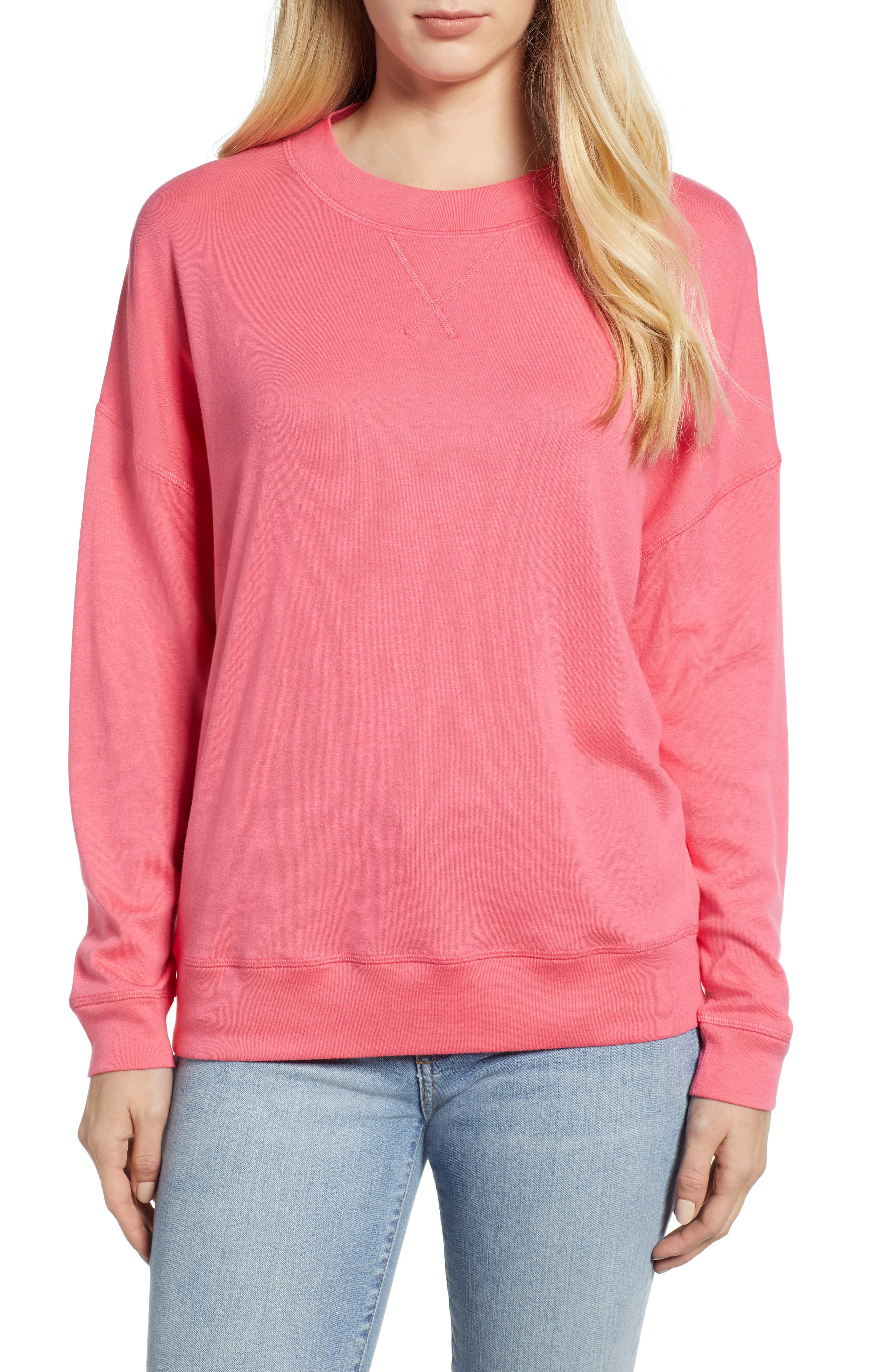 CASLON<SUP>®</SUP>, Sweatshirt, Main thumbnail 1, color, PINK HONEY
