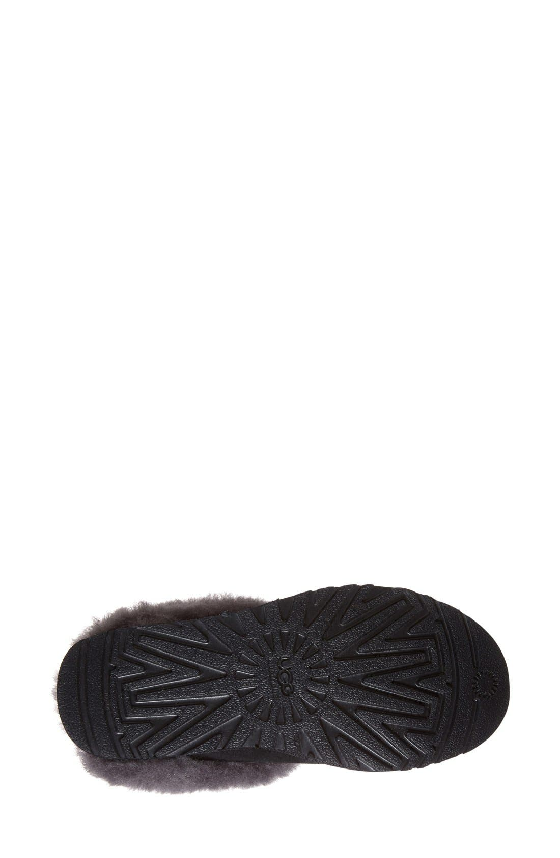 UGG<SUP>®</SUP>, 'Cluggette' Genuine Shearling Indoor/Outdoor Slipper, Alternate thumbnail 2, color, 001