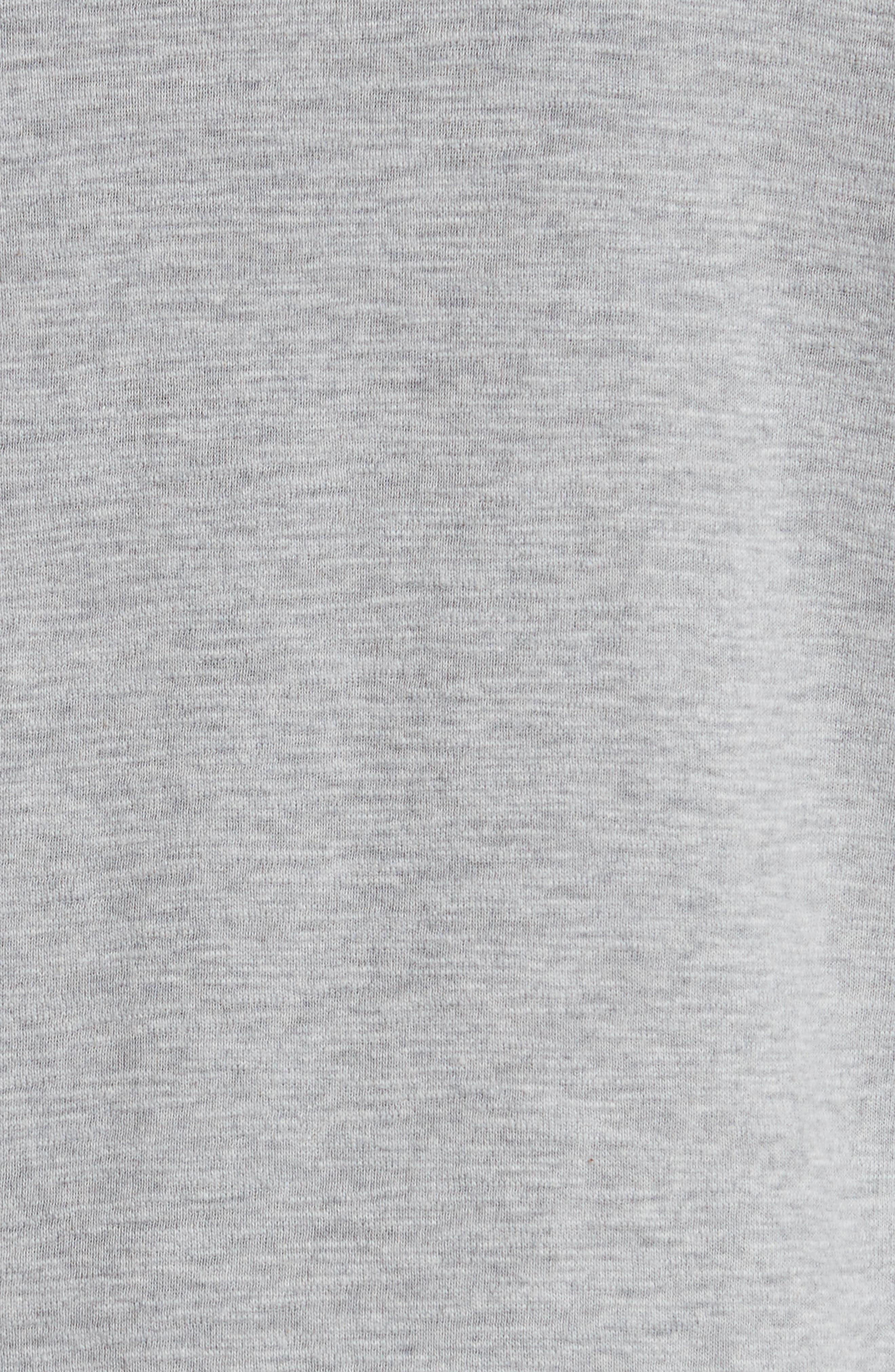 WINGS + HORNS, Slub Crewneck Sweater, Alternate thumbnail 5, color, HEATHER GREY