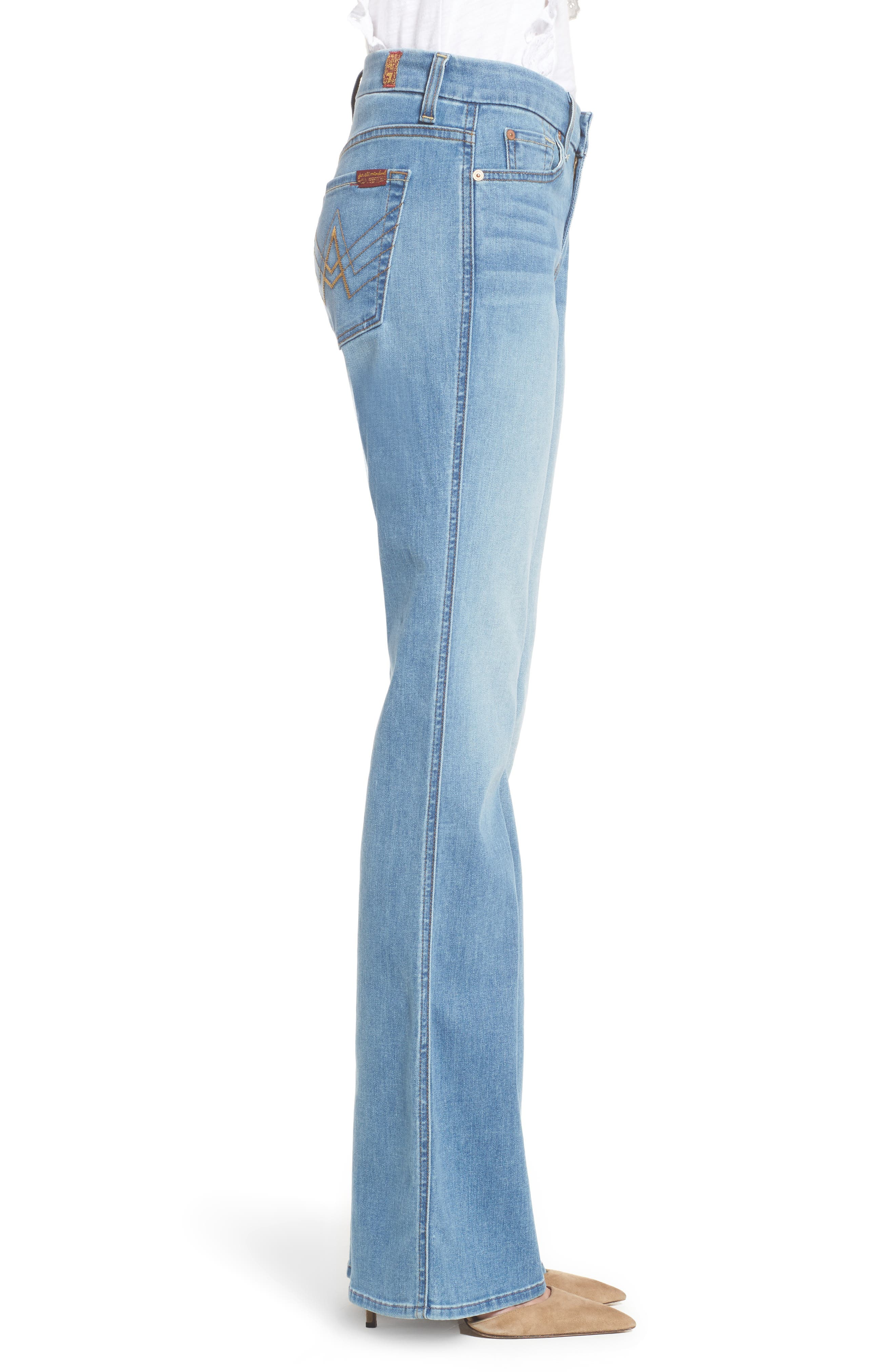 7 FOR ALL MANKIND<SUP>®</SUP>, A-Pocket Flare Leg Jeans, Alternate thumbnail 4, color, 401