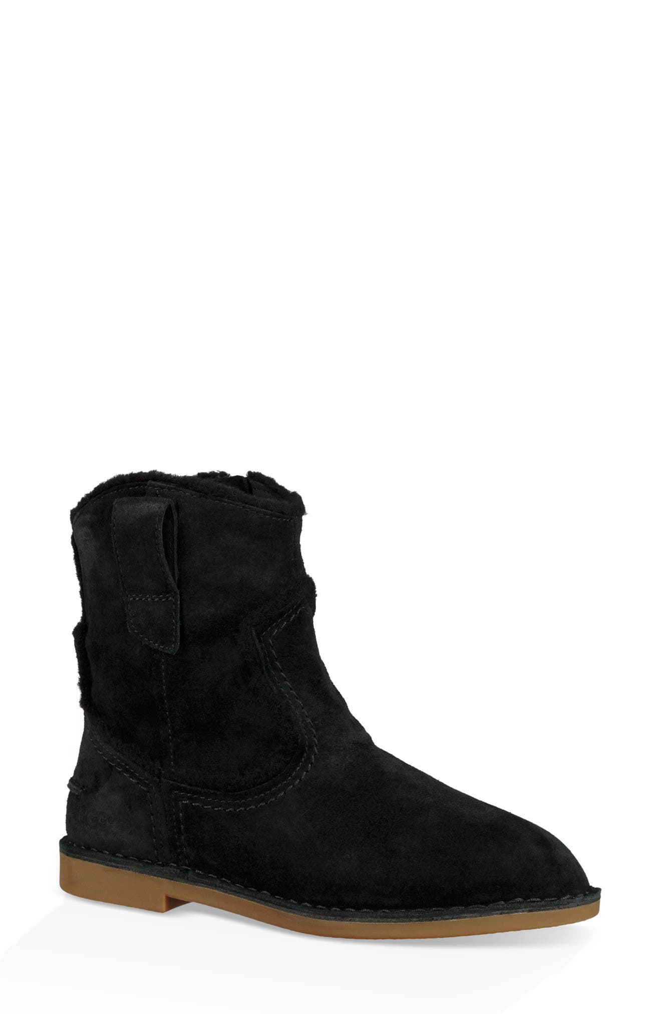 UGG<SUP>®</SUP>, Catica Boot, Main thumbnail 1, color, BLACK SUEDE