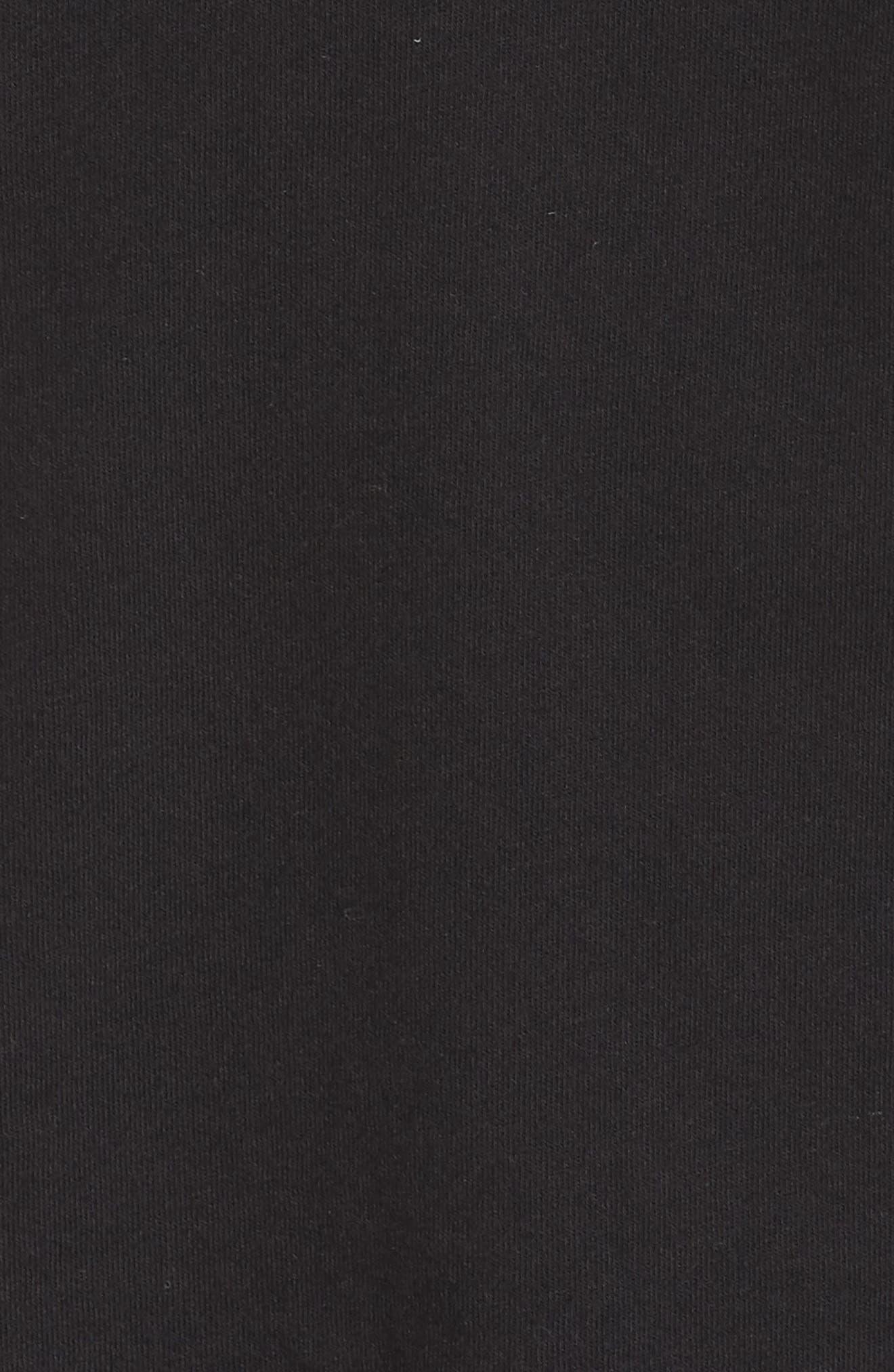 RICHER POORER, Boxy Crop Tee, Alternate thumbnail 5, color, BLACK
