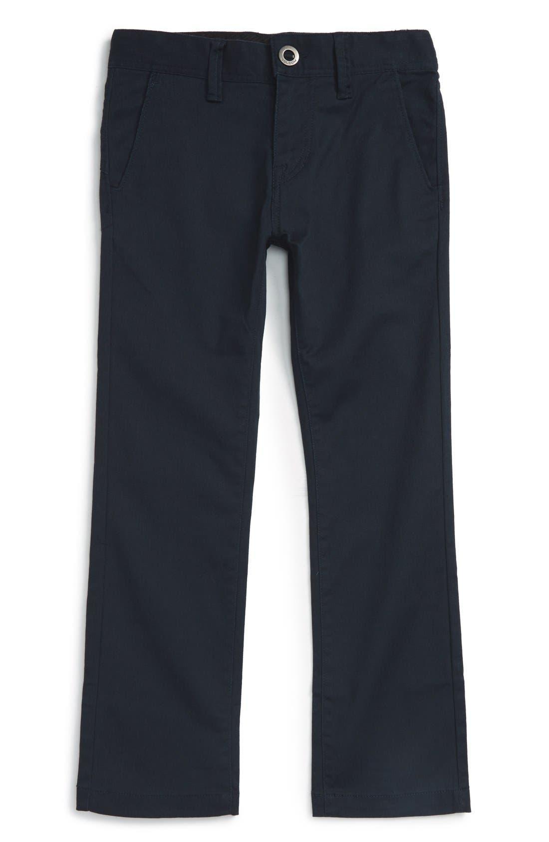 Boys Volcom Modern Stretch Chinos Size 5  Blue