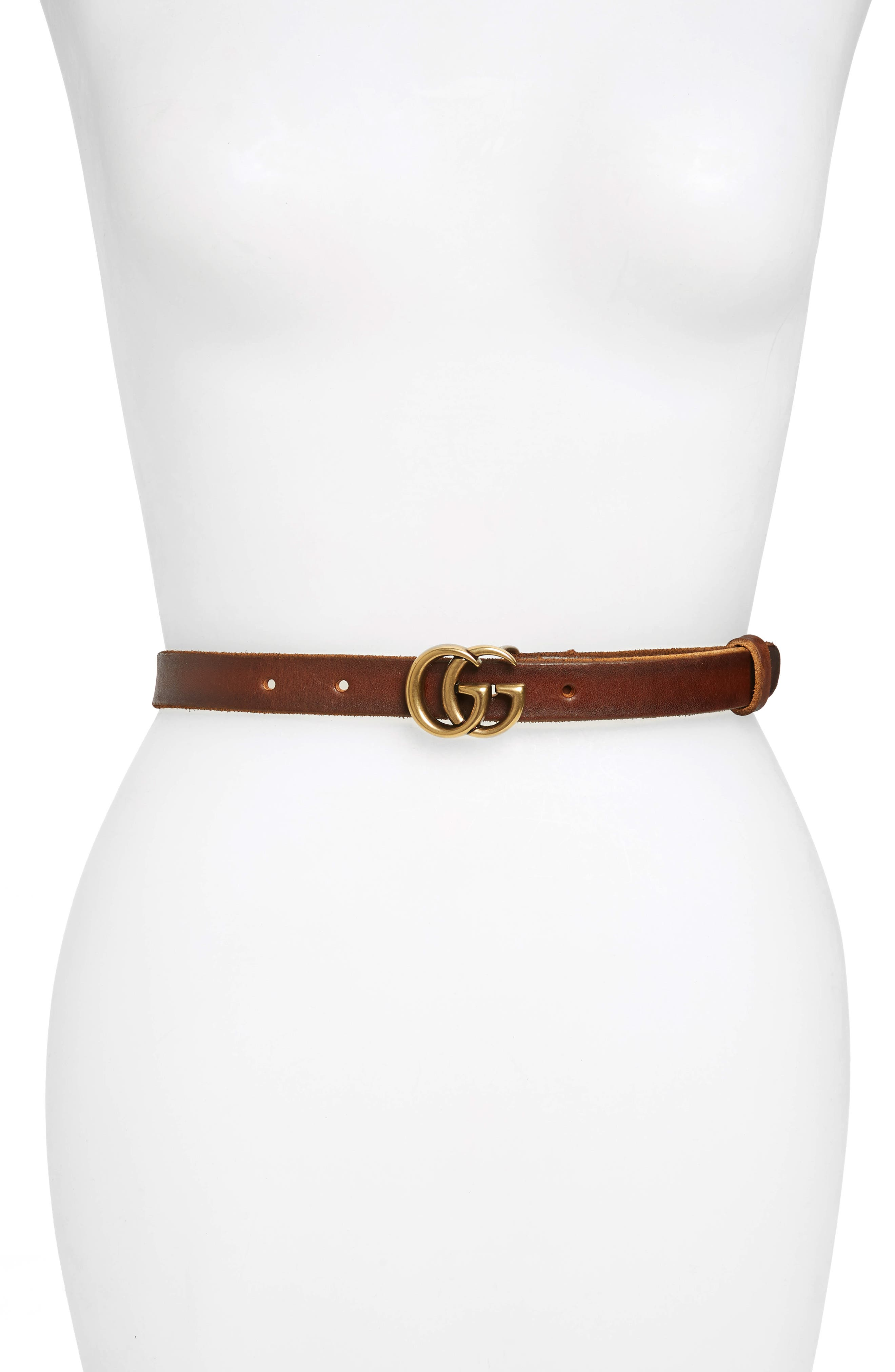 GUCCI Leather Belt, Main, color, CUIR
