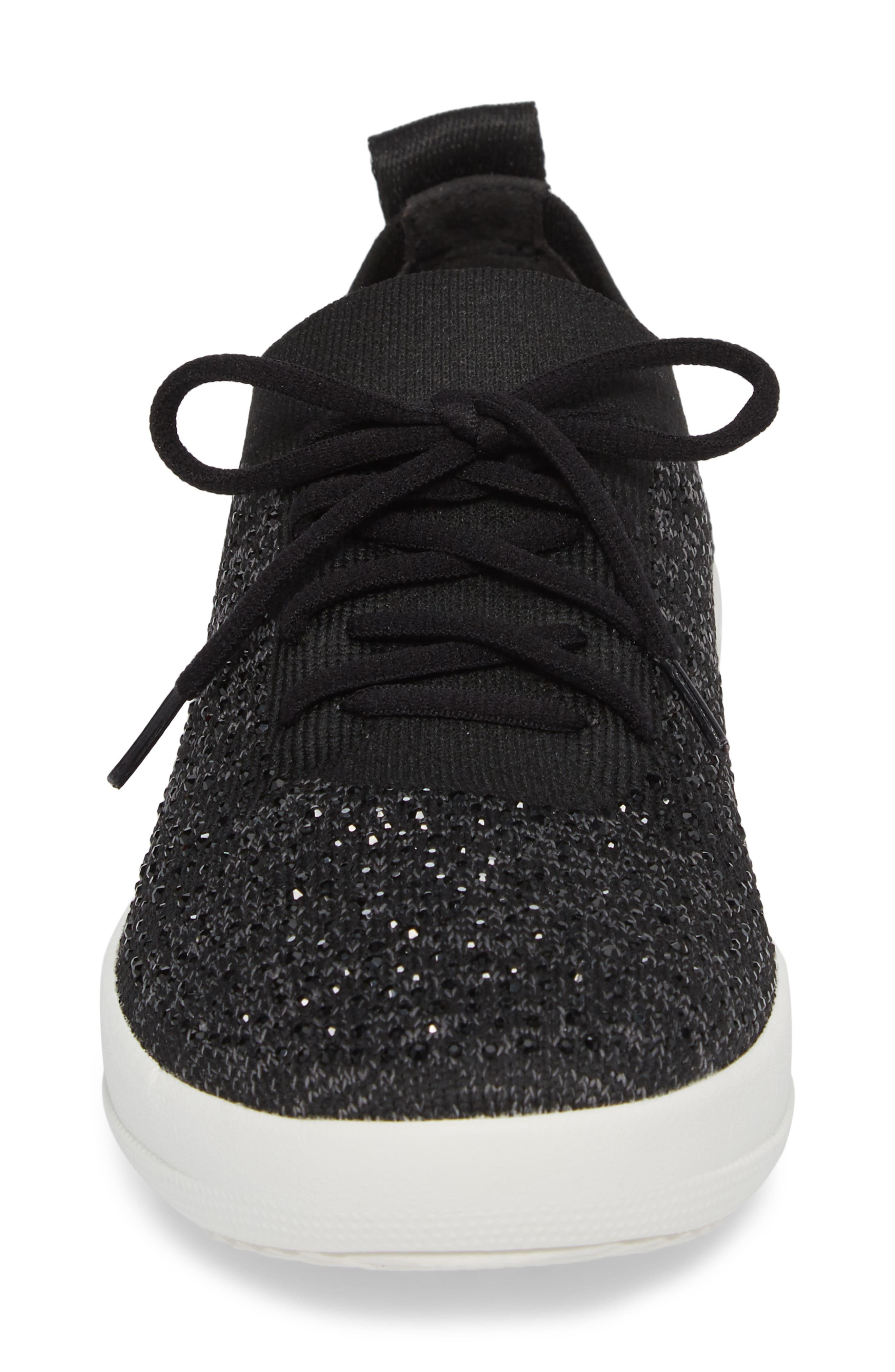 FITFLOP, Uberknit<sup>™</sup> F-Sporty Sneaker, Alternate thumbnail 4, color, 001