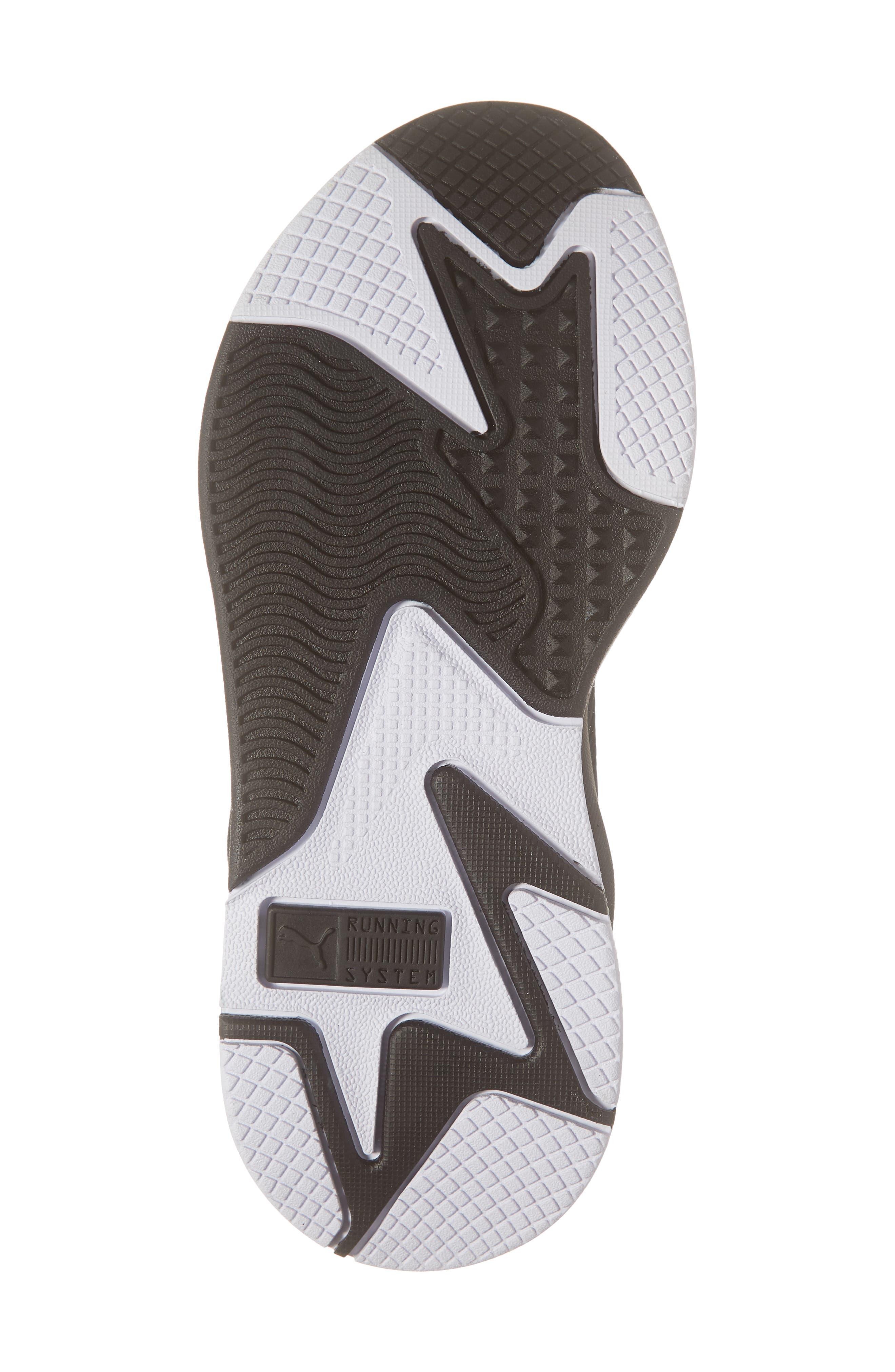 PUMA, RS-X Trophy Sneaker, Alternate thumbnail 6, color, BLACK/ ROSE GOLD