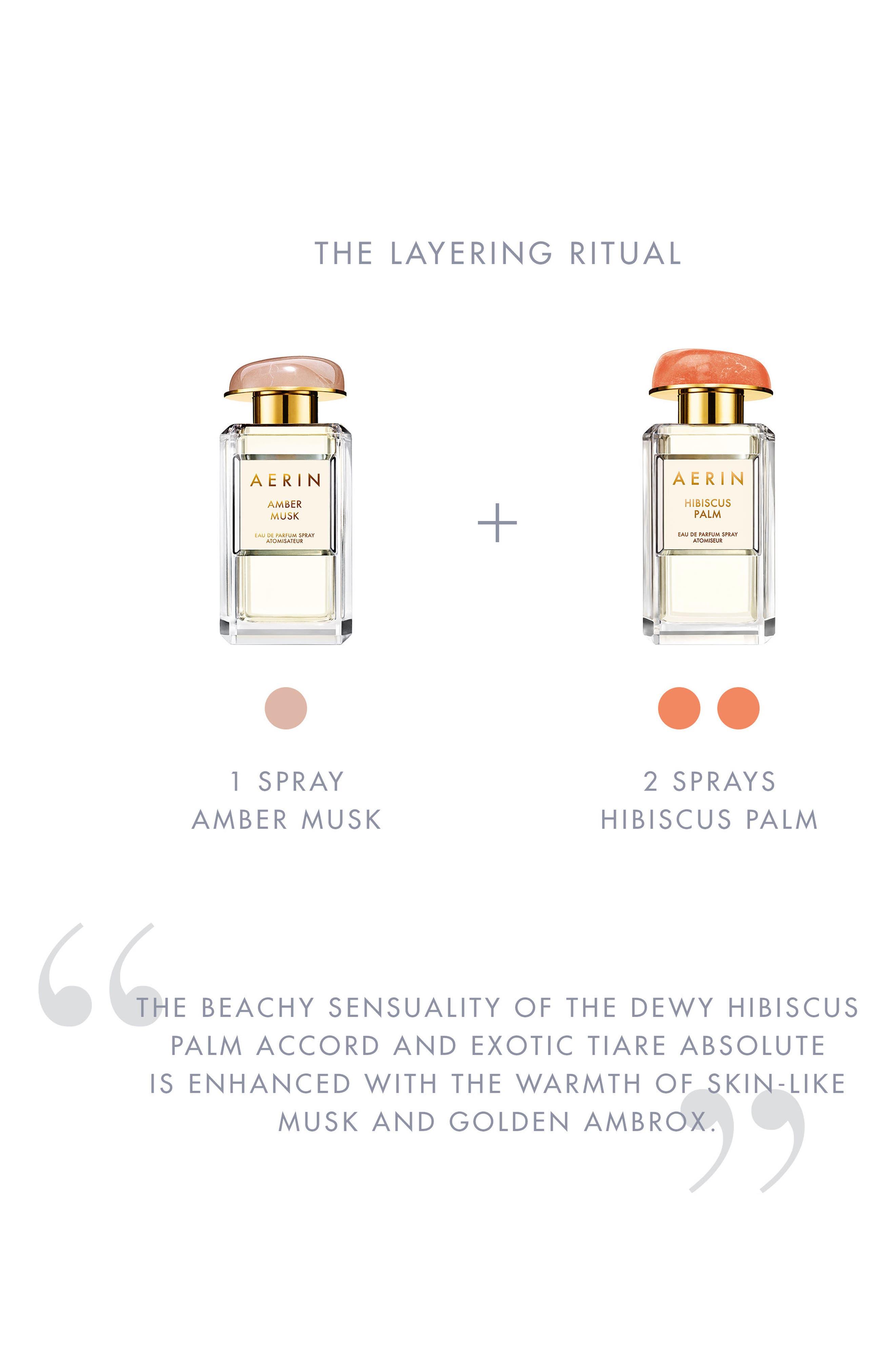 ESTÉE LAUDER, Aerin Beauty Hibiscus Palm Eau de Parfum, Alternate thumbnail 2, color, NO COLOR