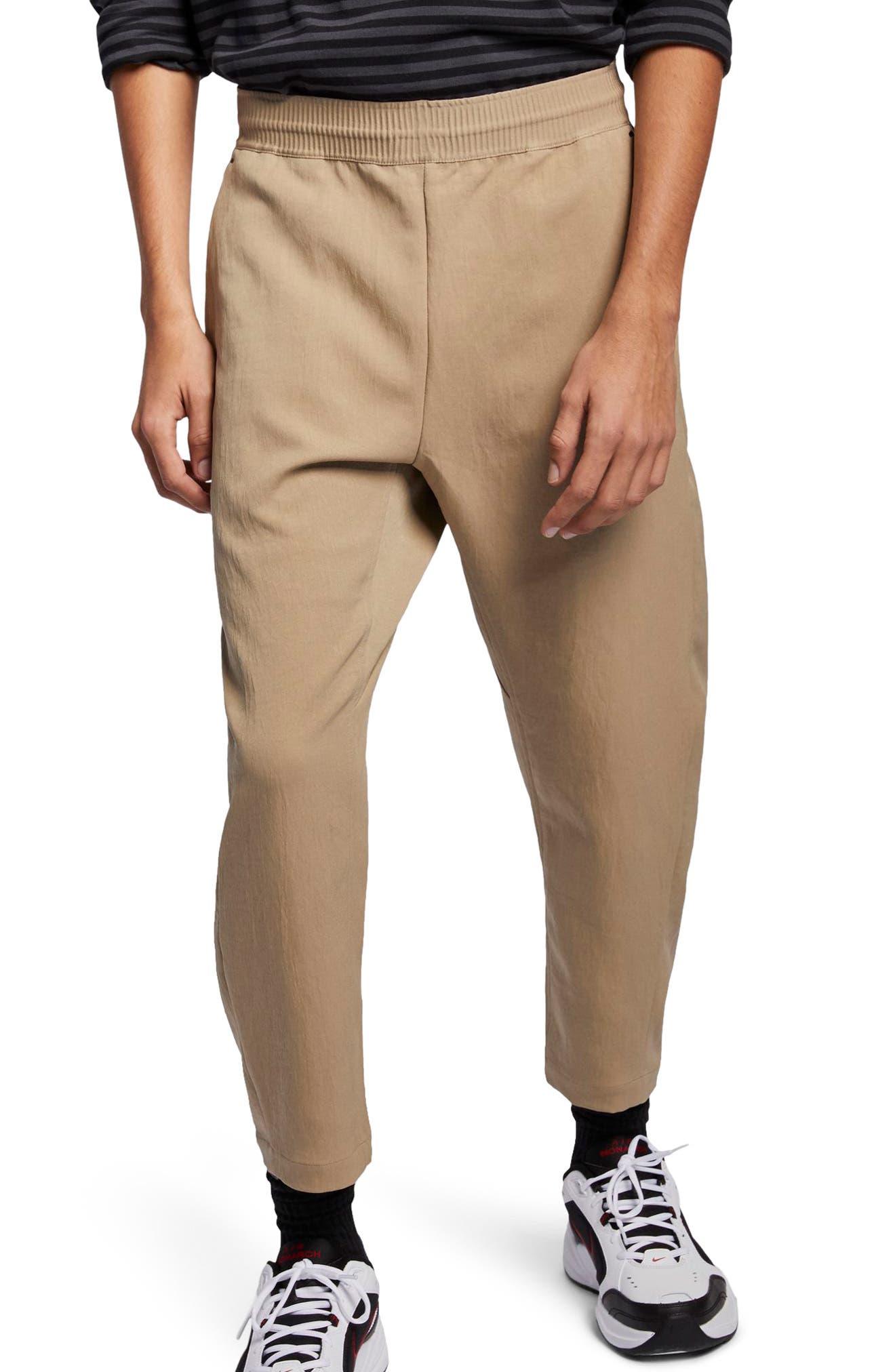 NIKE, Sportswear Tech Pack Men's Crop Woven Pants, Main thumbnail 1, color, KHAKI/ KHAKI/ BLACK