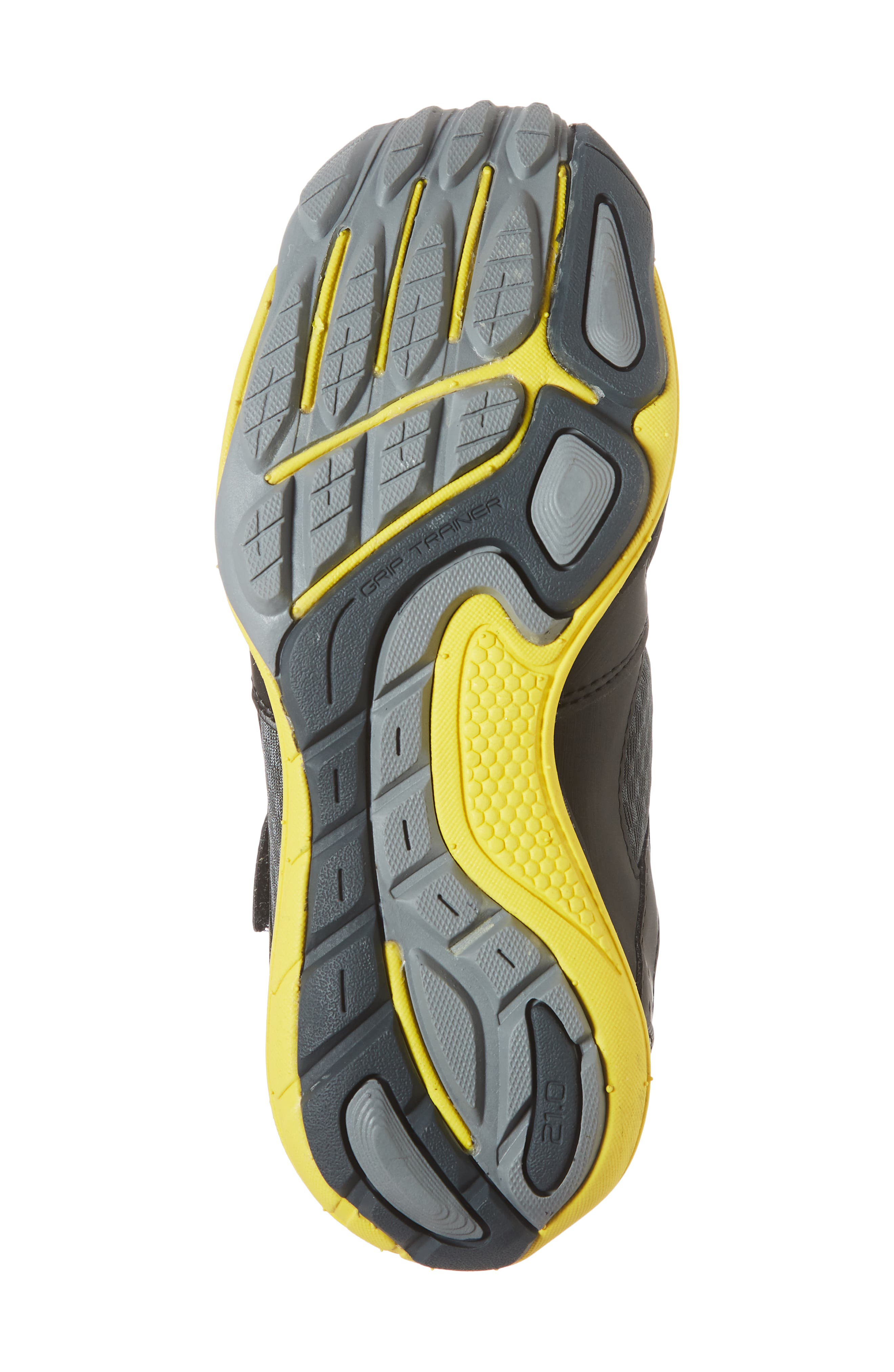 TSUKIHOSHI, Mako Washable Sneaker, Alternate thumbnail 6, color, BLACK/ YELLOW