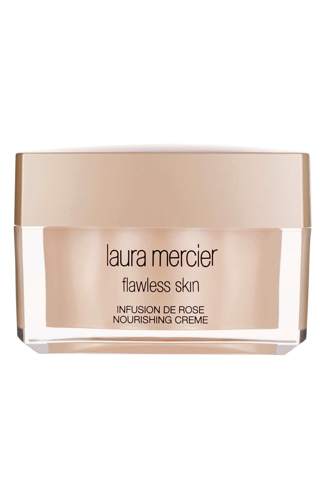 LAURA MERCIER, 'Flawless Skin' Infusion de Rose Nourishing Crème, Main thumbnail 1, color, NO COLOR
