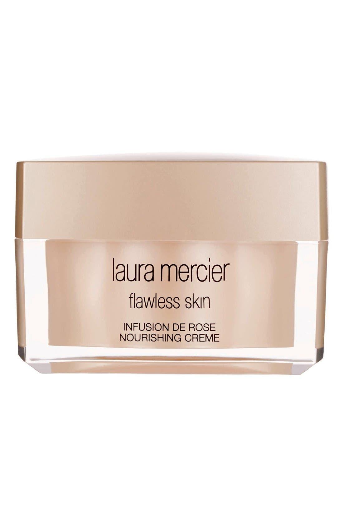 LAURA MERCIER 'Flawless Skin' Infusion de Rose Nourishing Crème, Main, color, NO COLOR