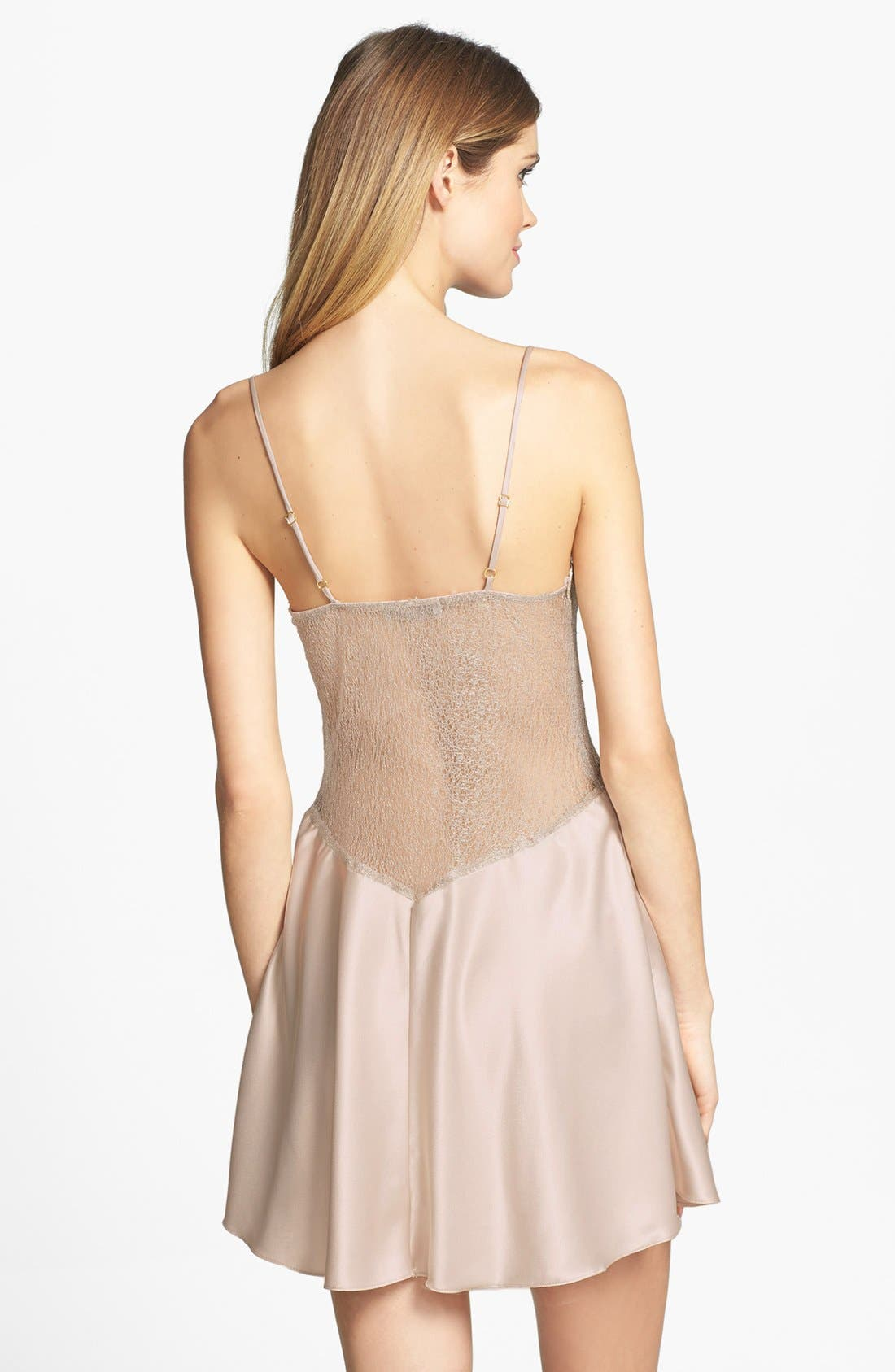 FLORA NIKROOZ, Showstopper Chemise, Alternate thumbnail 7, color, CHAMPAGNE