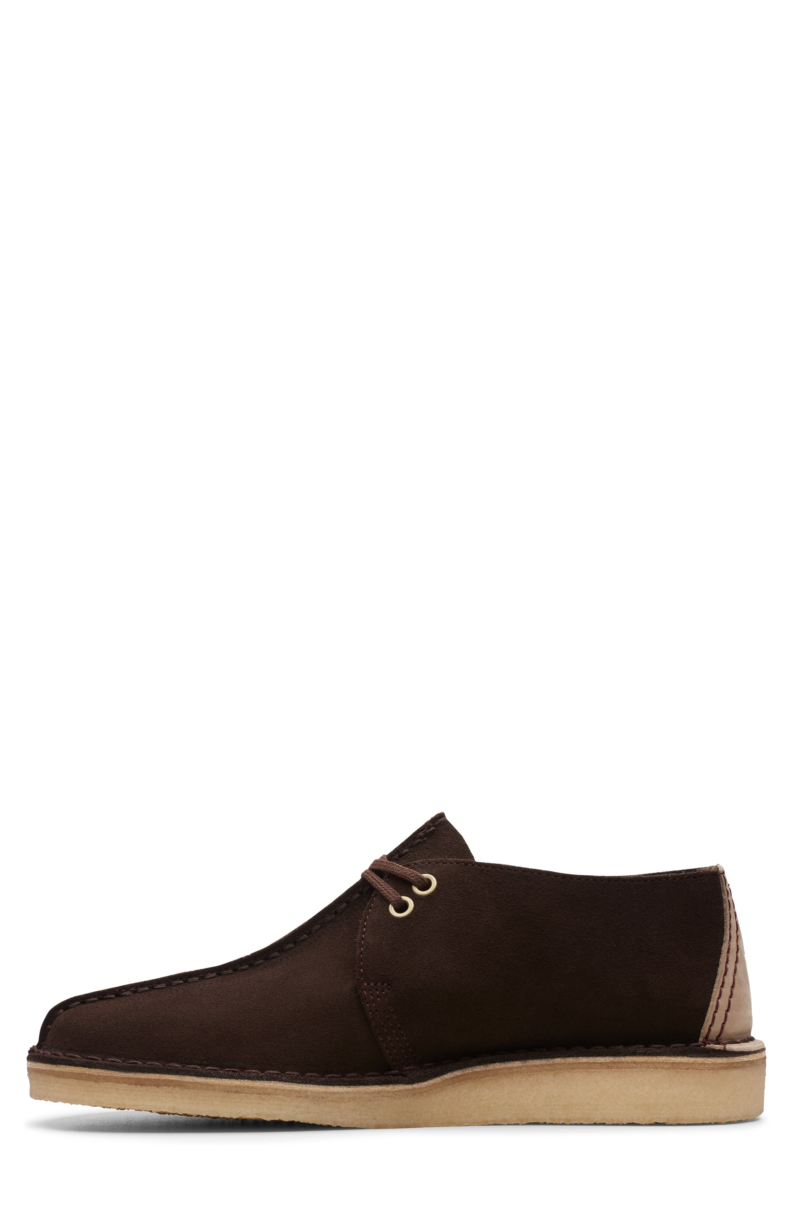 CLARKS<SUP>®</SUP>, Desert Trek Chukka Boot, Alternate thumbnail 7, color, DARK BROWN SUEDE